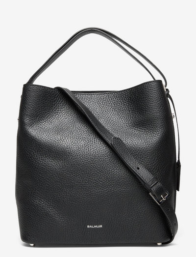 Eyleen bucket bag - bucketväskor - black/silver