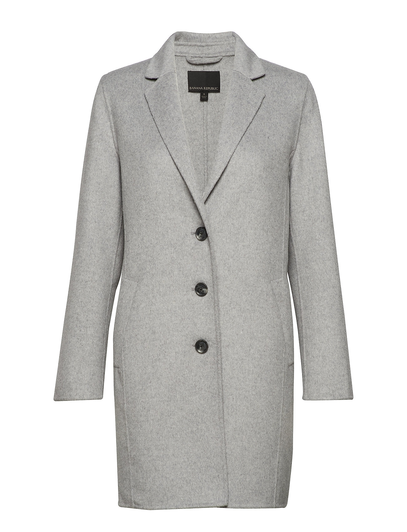 Banana Republic Double-Faced Topcoat - MEDHEATHER GREY
