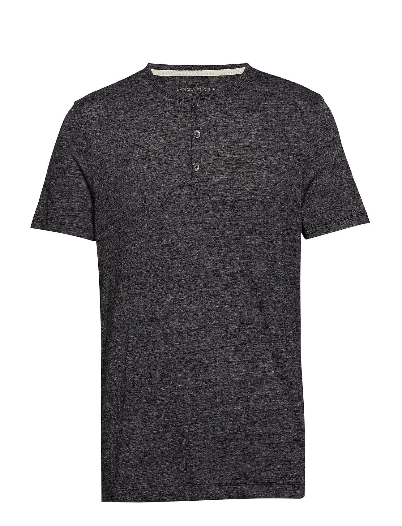 Banana Republic Vintage Henley T-Shirt - BLACK
