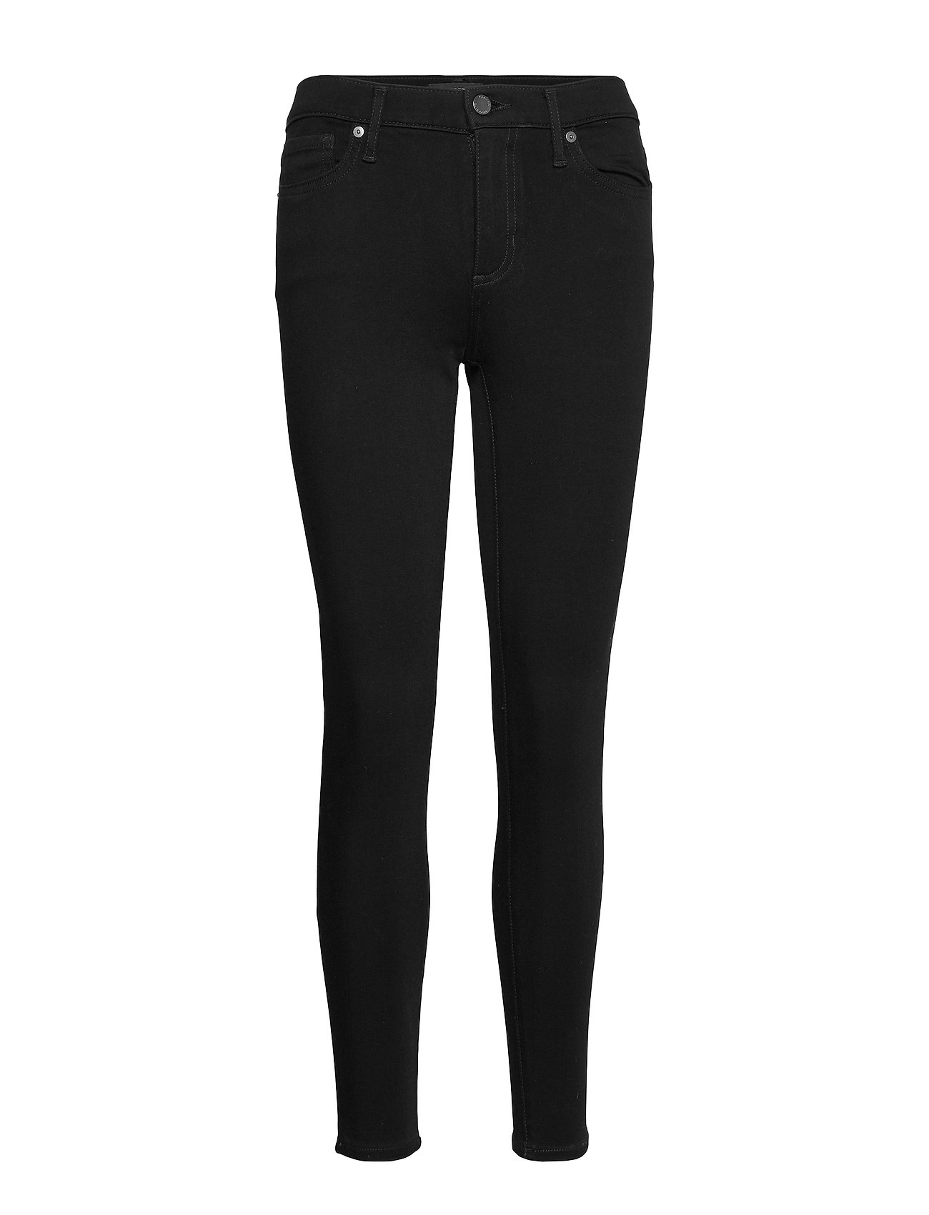 Banana Republic Mid-Rise Skinny Fade-Resistant Ankle Jean - BLACK K-100