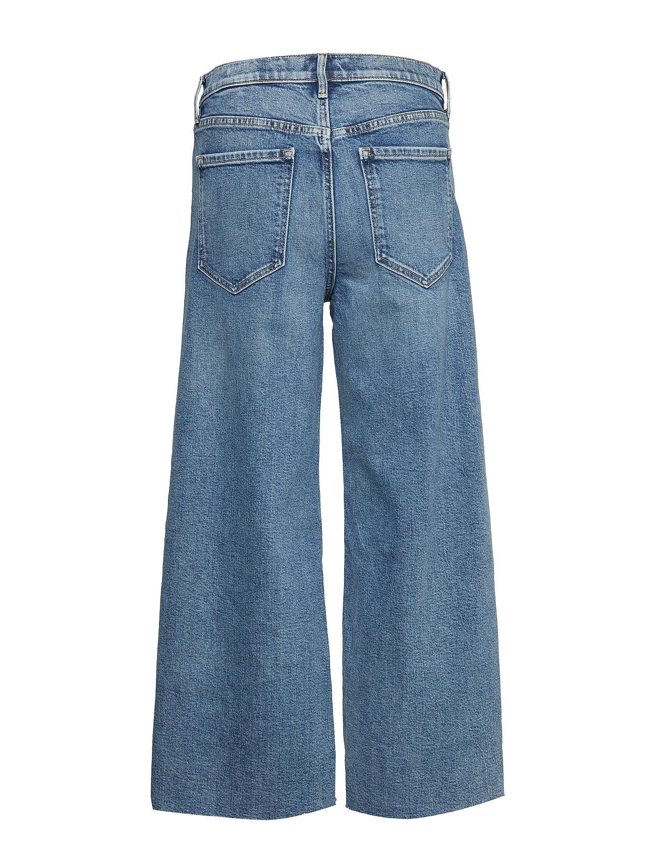 Banana Republic - High-Rise Wide-Leg Cropped Jean - broeken met wijde pijpen - medium blue vintage - 1