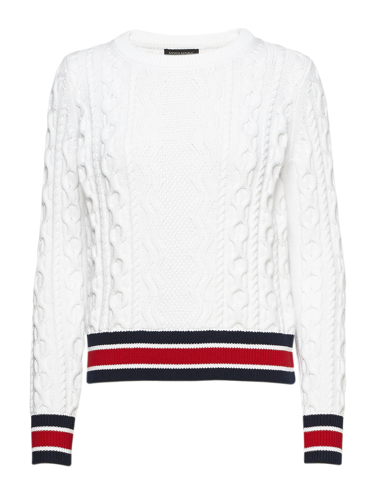 Banana Republic VARSITY TRIM CABLE CREW Ögrönlar