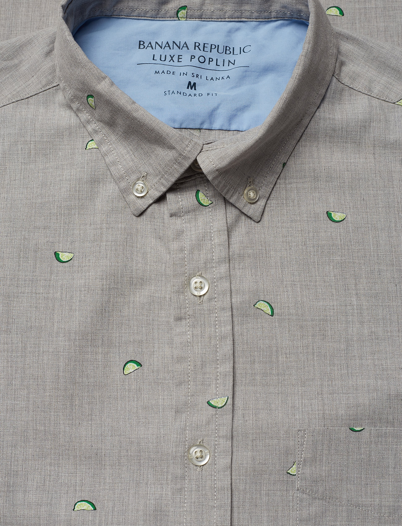Banana Republic - Standard-Fit Luxe Poplin Shirt - oxford shirts - fresh limeade - 1