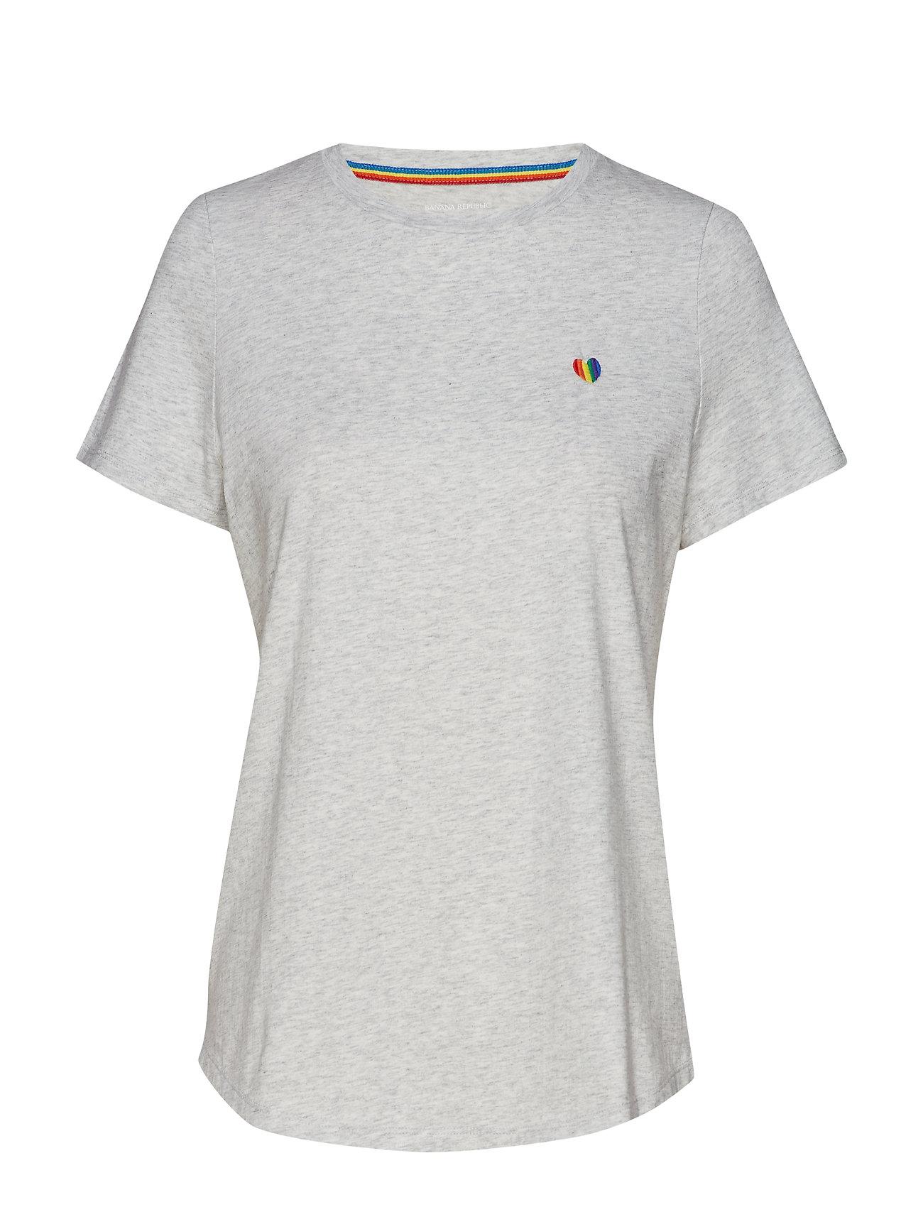 Banana Republic Pride 2019 Heart T-Shirt (Women's Sizes) - LIGHT GREY