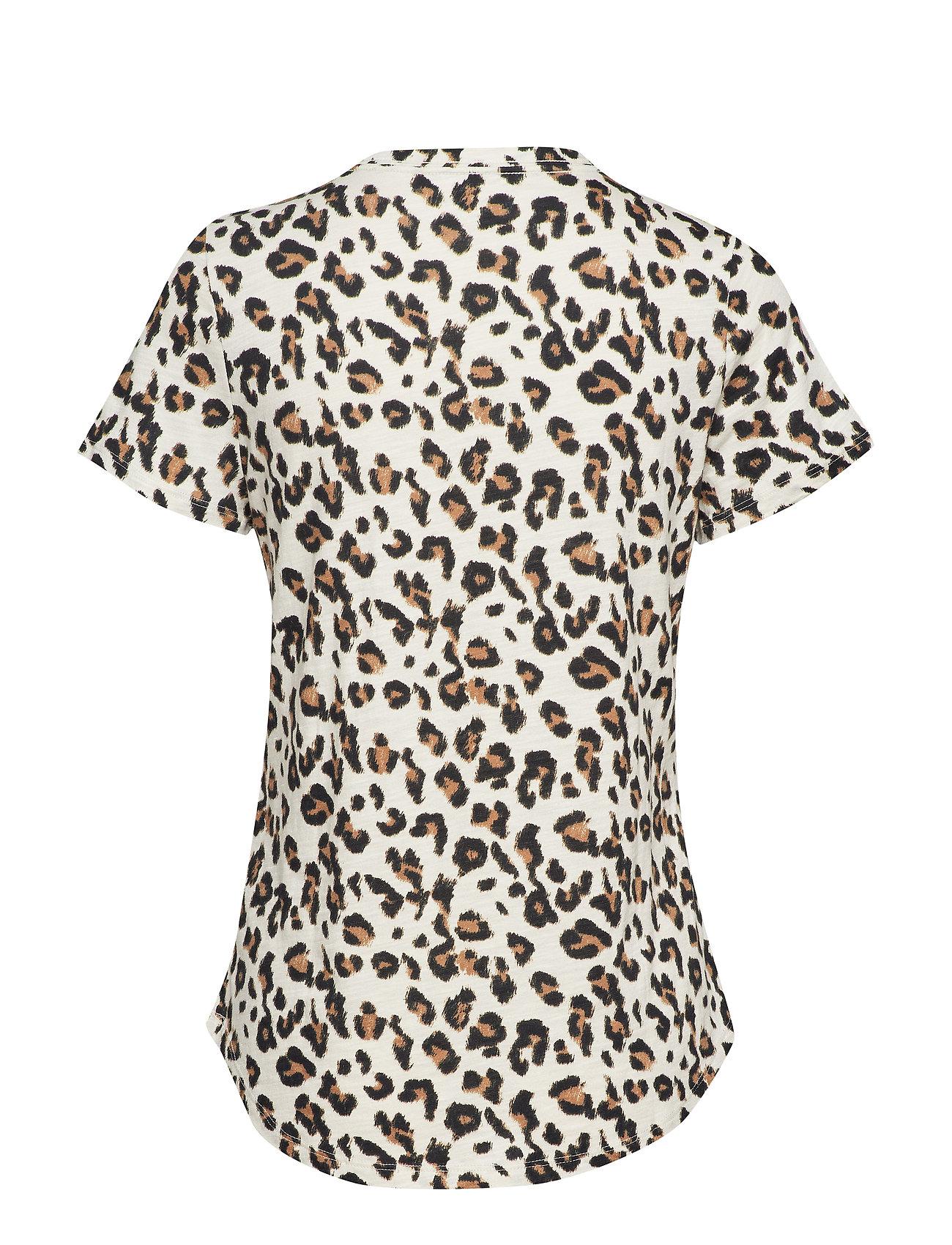 Slub Leopard Republic TeeprintBanana Cotton Ss l1cFJKT