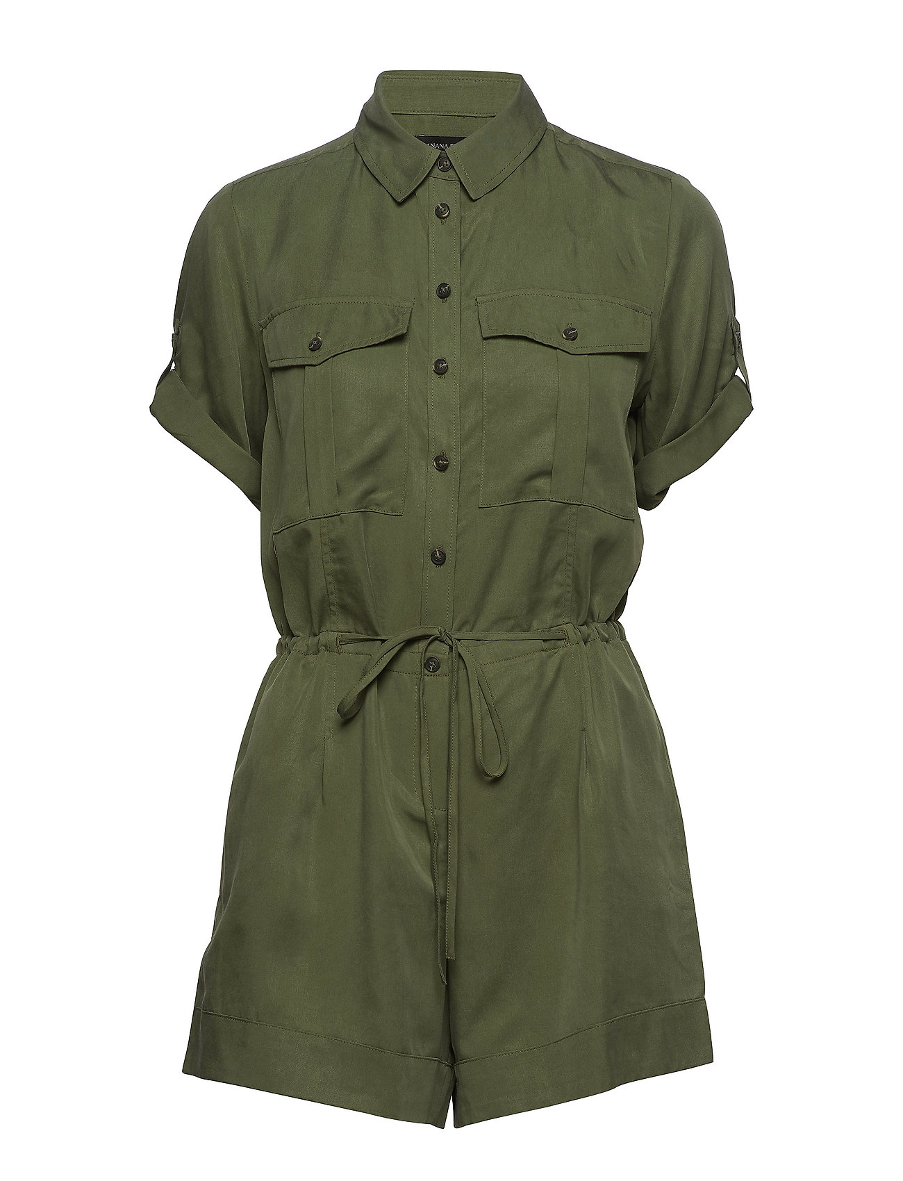 Banana Republic TENCEL™ Utility Romper - FLIGHT JACKET