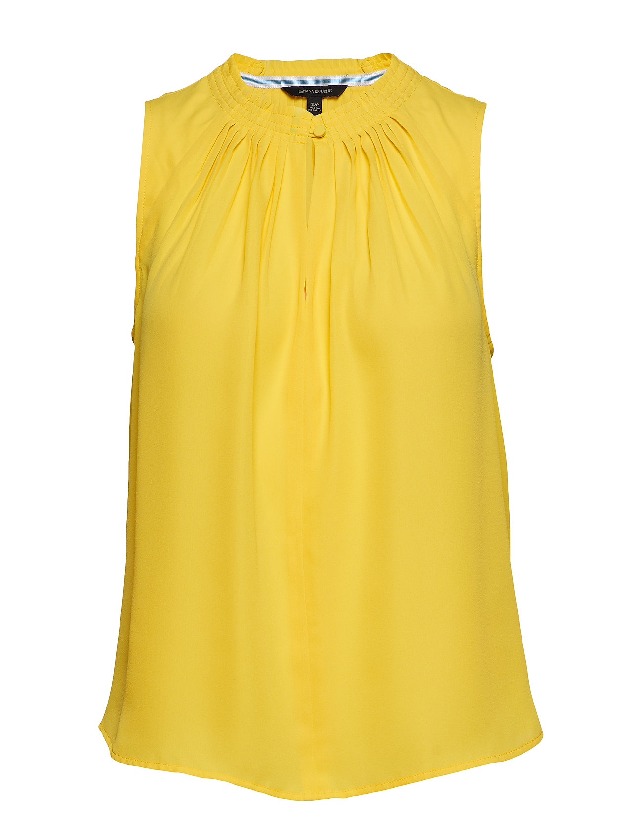 Image of Pleated Sleeveless Top Bluse Ærmeløs Gul Banana Republic (3189527951)