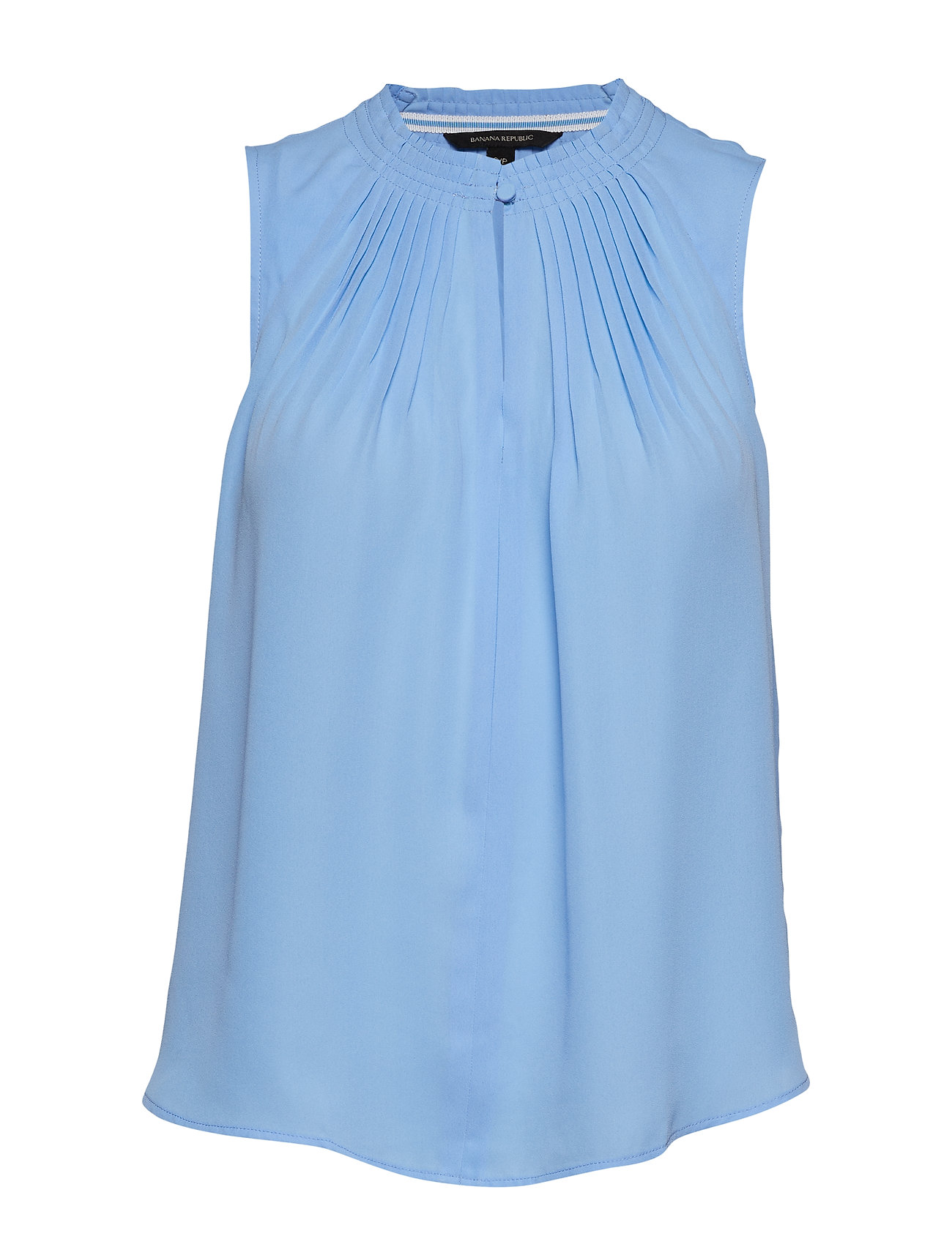 Image of Pleated Sleeveless Top Bluse Ærmeløs Blå Banana Republic (3189527953)