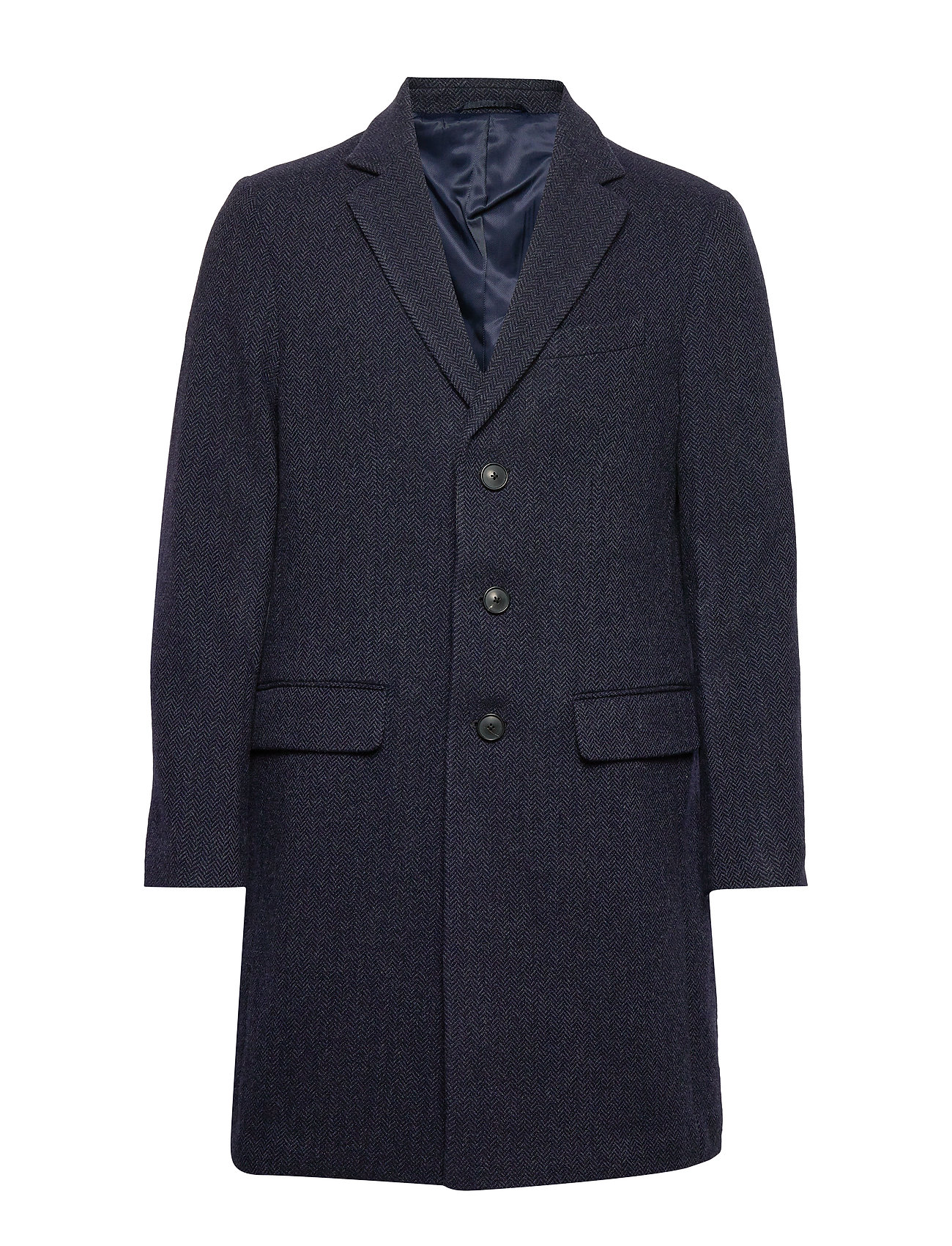 Banana Republic Italian Melton Topcoat - NAVY