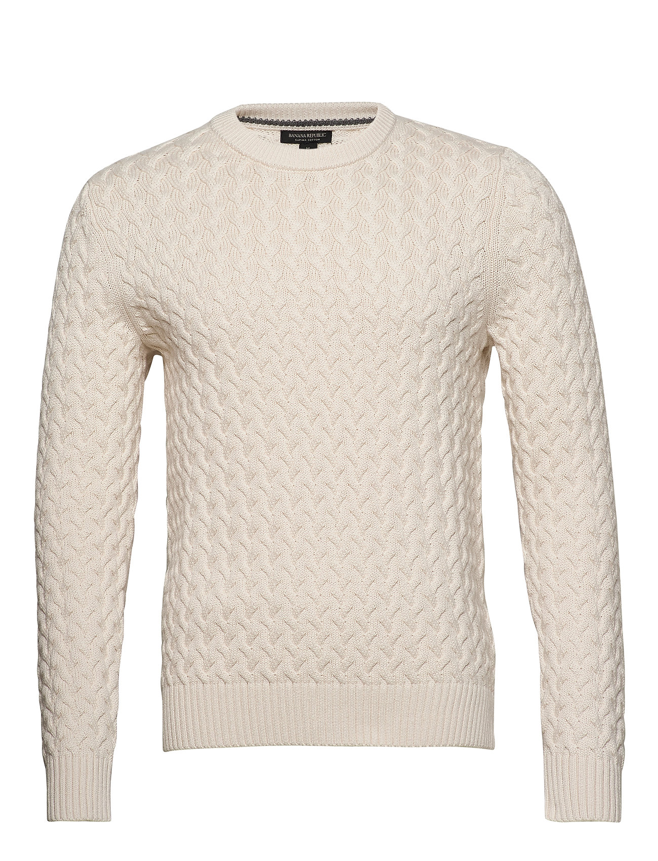 Banana Republic SUPIMA® Cotton Cable-Knit Sweater - TRANSITION CREAM