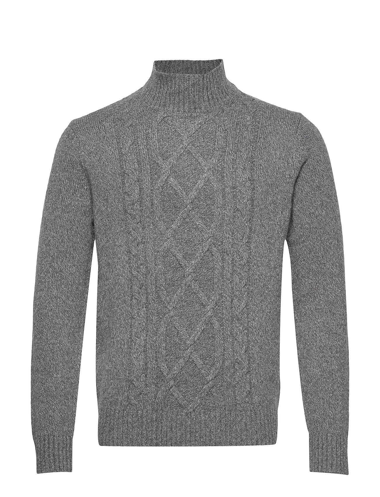 Banana Republic Wool-Blend Mock-Neck Sweater - DARK GREY