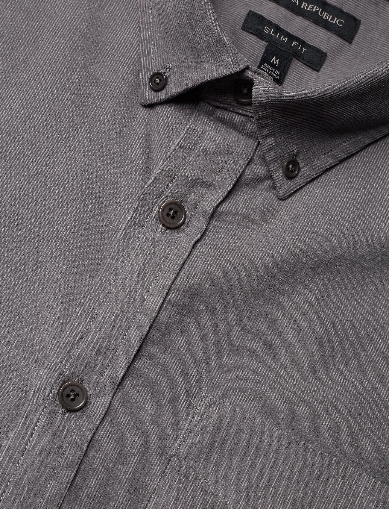 Banana Republic Slim-Fit Corduroy Shirt - Skjorter ROCK GREY - Menn Klær