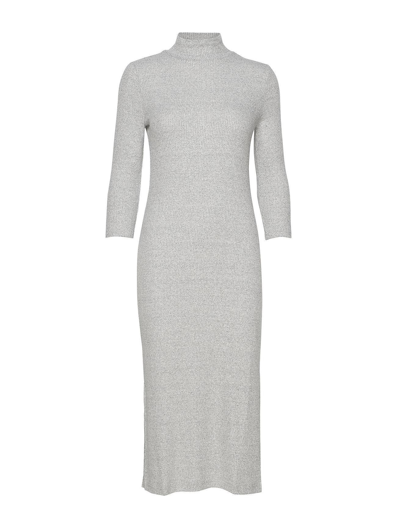 Banana Republic Luxespun Turtleneck Dress - LT HEATHER GREY BC14