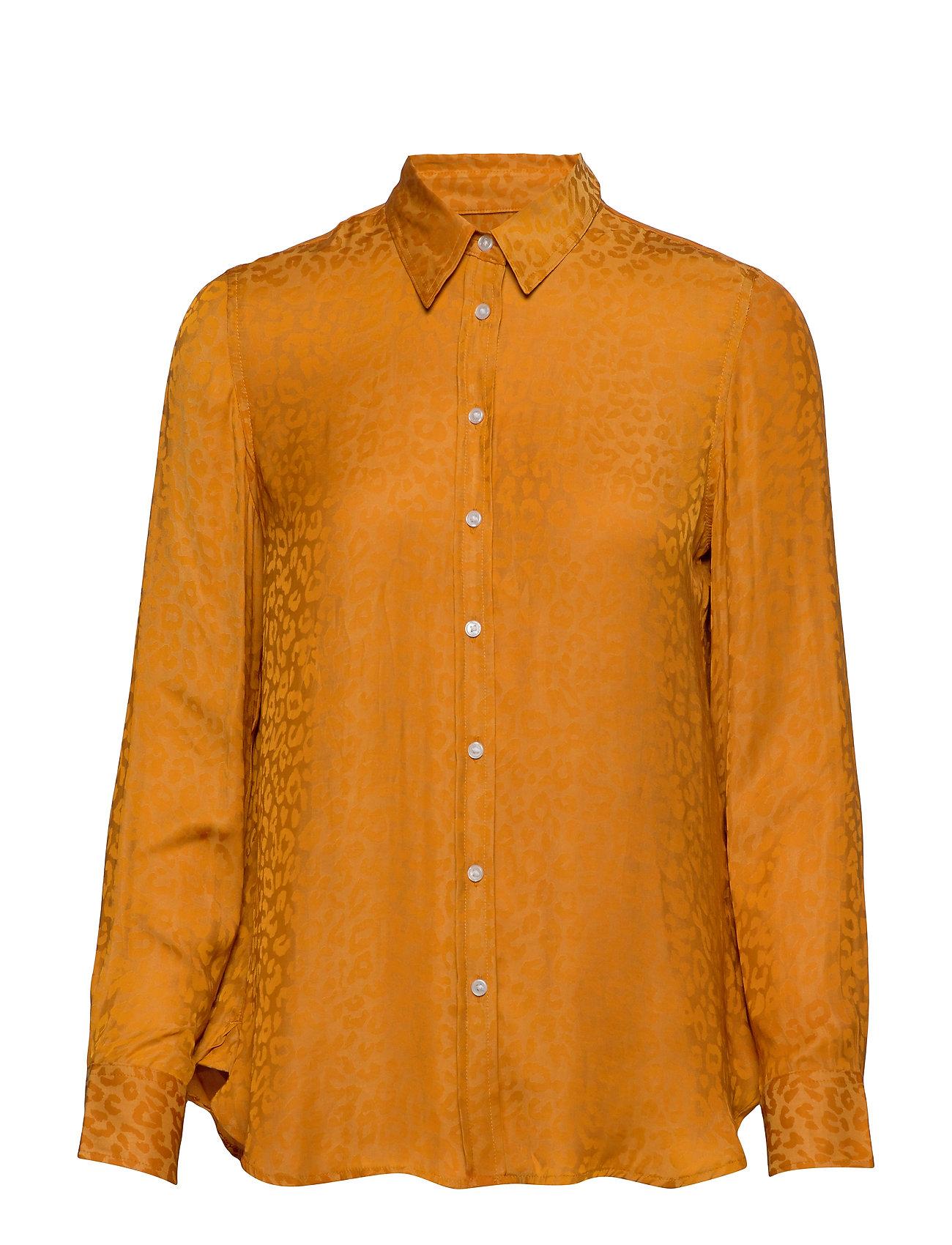 Banana Republic Dillon Classic-Fit Leopard Shirt - MUSTARD 515