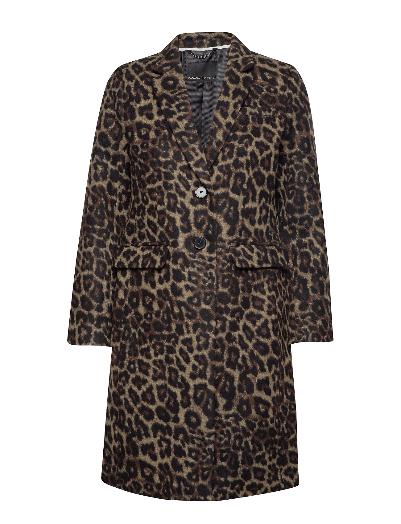 Banana Republic Leopard Print Top Coat - CAMEL/ANIMAL PRINT