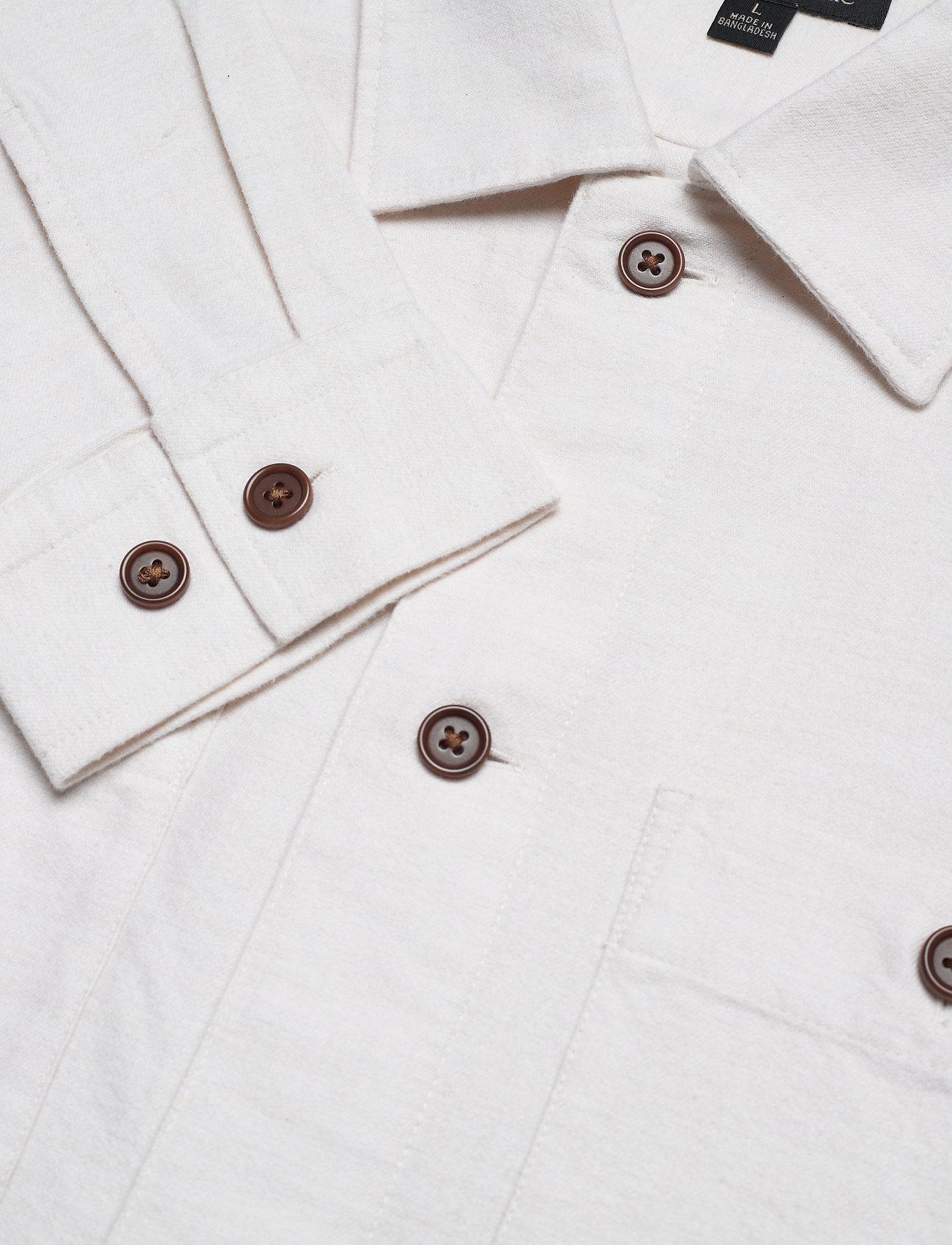 Banana Republic Slim-Fit Flannel Shirt Jacket - Jakker og frakker ECRU - Menn Klær