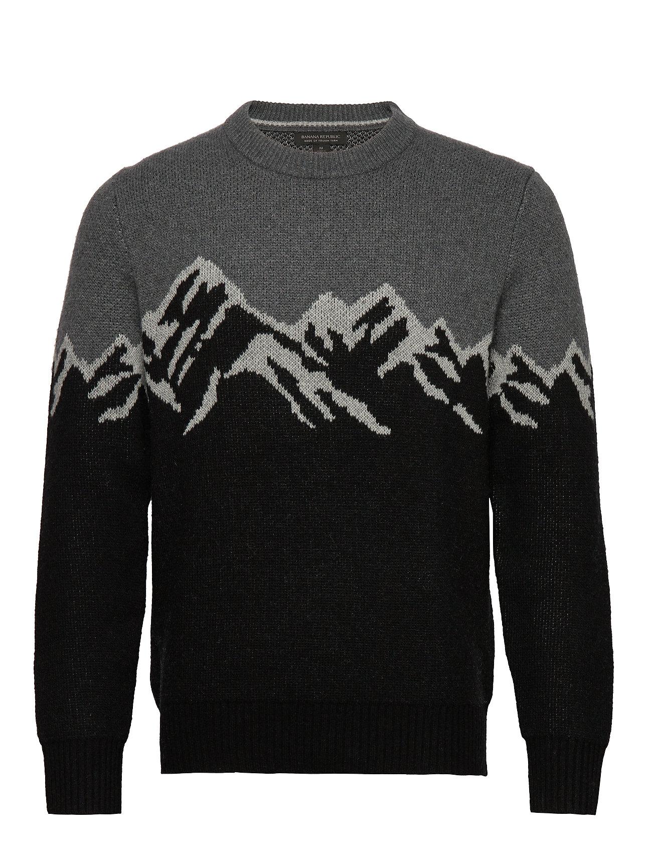 Banana Republic Mountain Graphic Sweater - BLACK