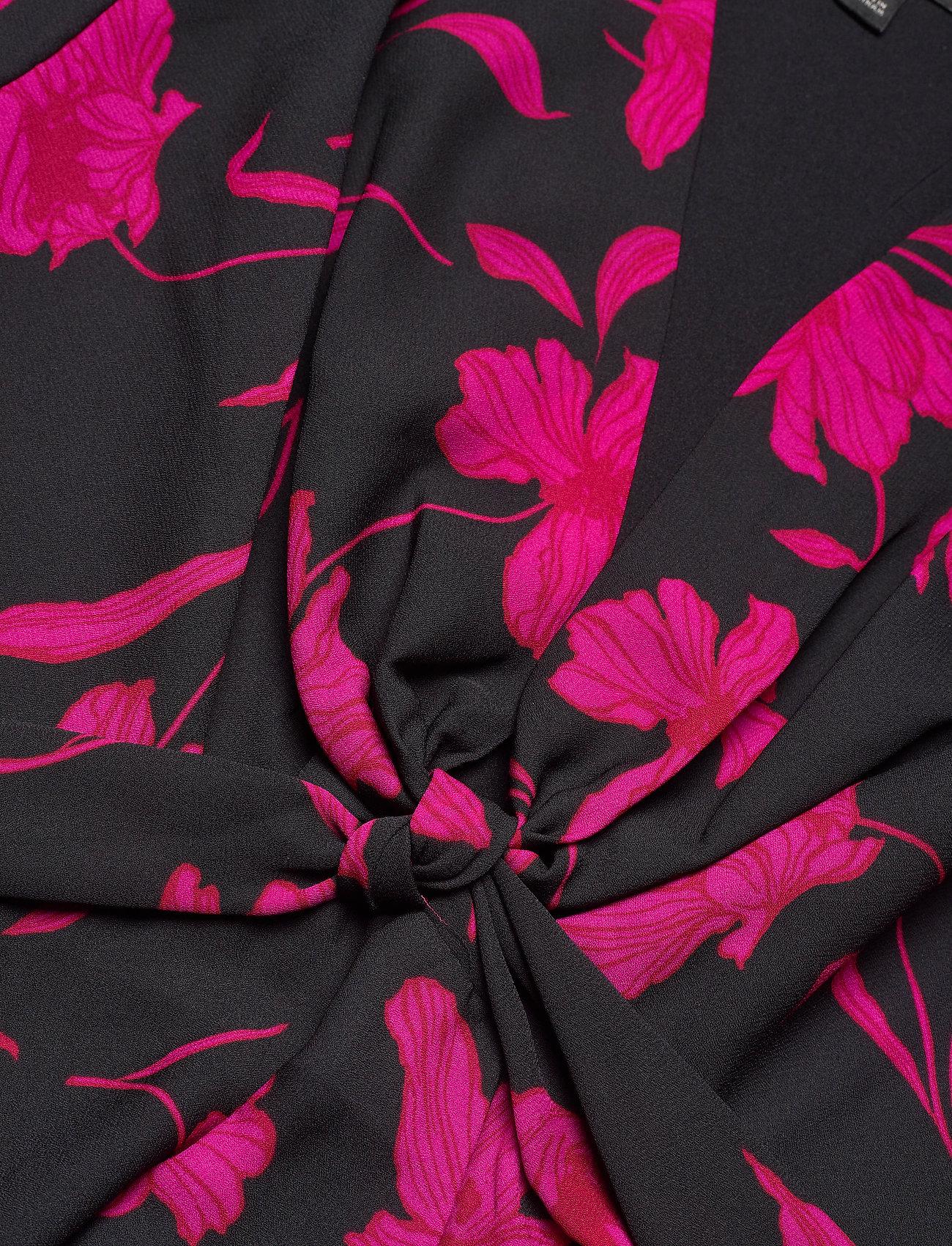 Banana Republic Floral Puff-sleeve Dress - Klänningar Black
