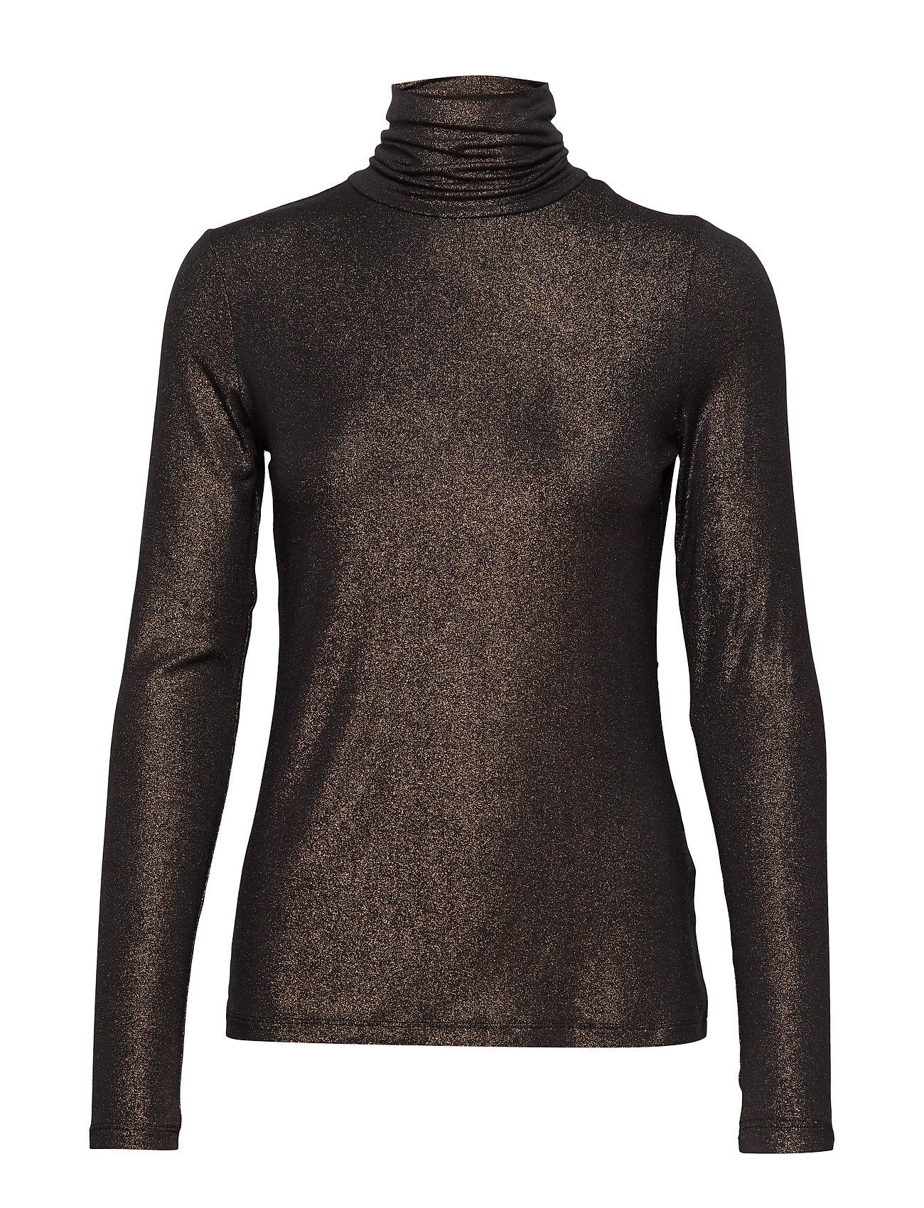 Banana Republic Metallic Soft Stretch Turtleneck T-Shirt - BLACK K-100