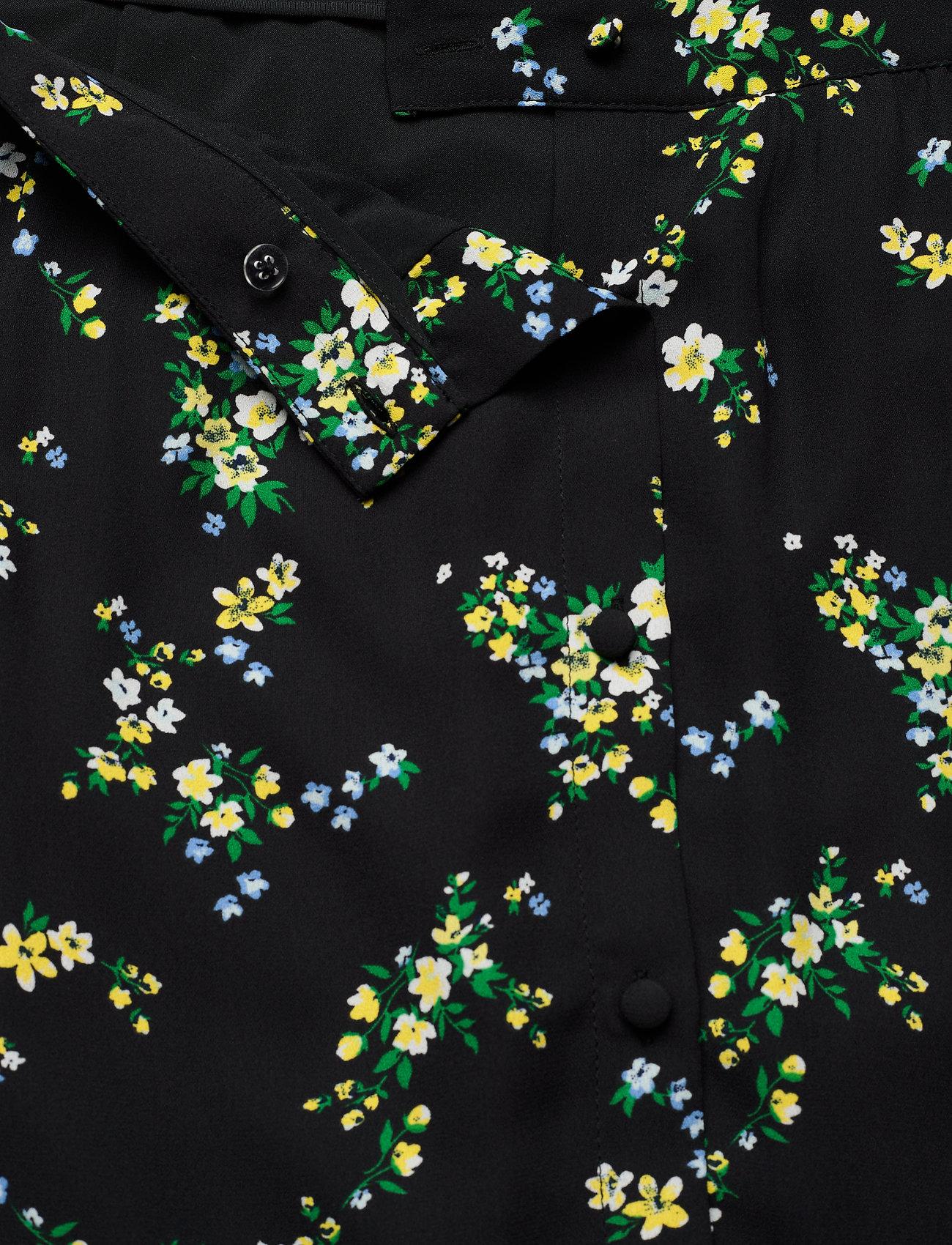 Banana Republic Floral Midi Skirt - Spódnice BLACK DITSY FLORAL - Kobiety Odzież.