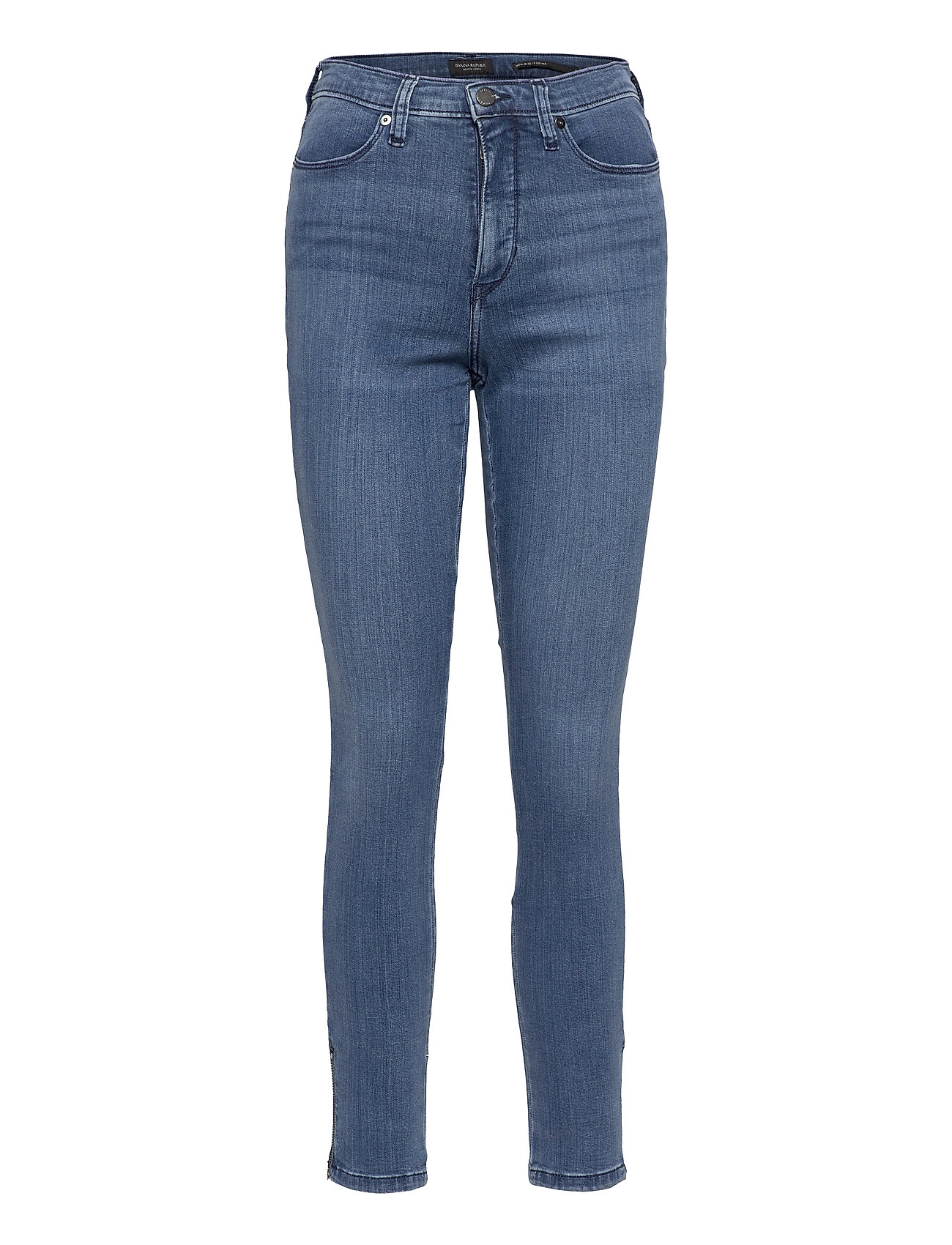 Image of High-Rise Legging Jean With Ankle Zips Skinny Jeans Blå Banana Republic (3491146883)
