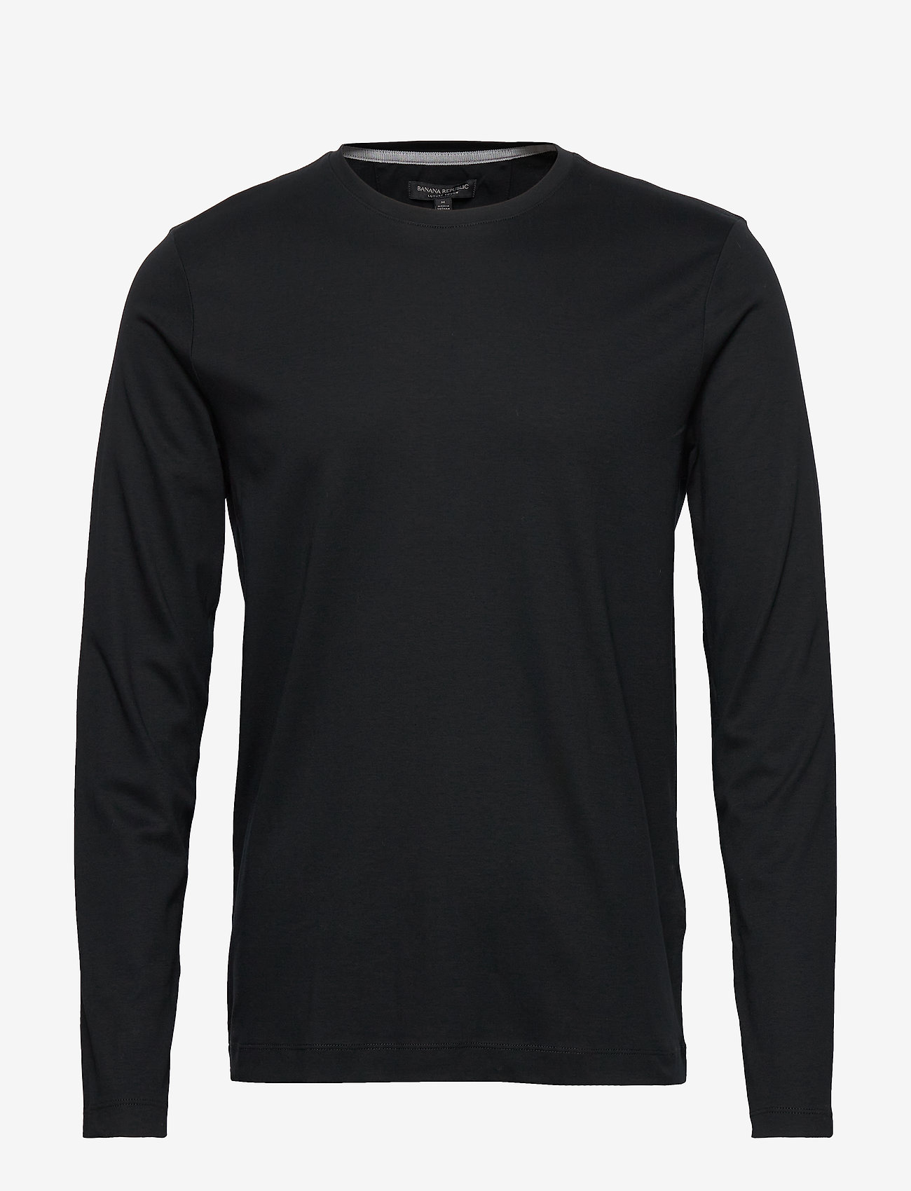Banana Republic - Luxury-Touch Crew-Neck T-Shirt - basic t-shirts - black - 0