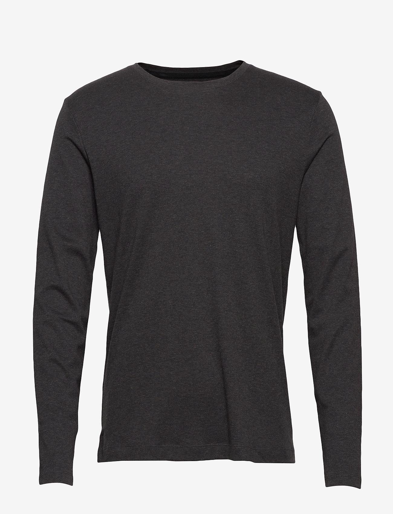 Banana Republic - Luxury-Touch Crew-Neck T-Shirt - basic t-shirts - dark charcoal - 0