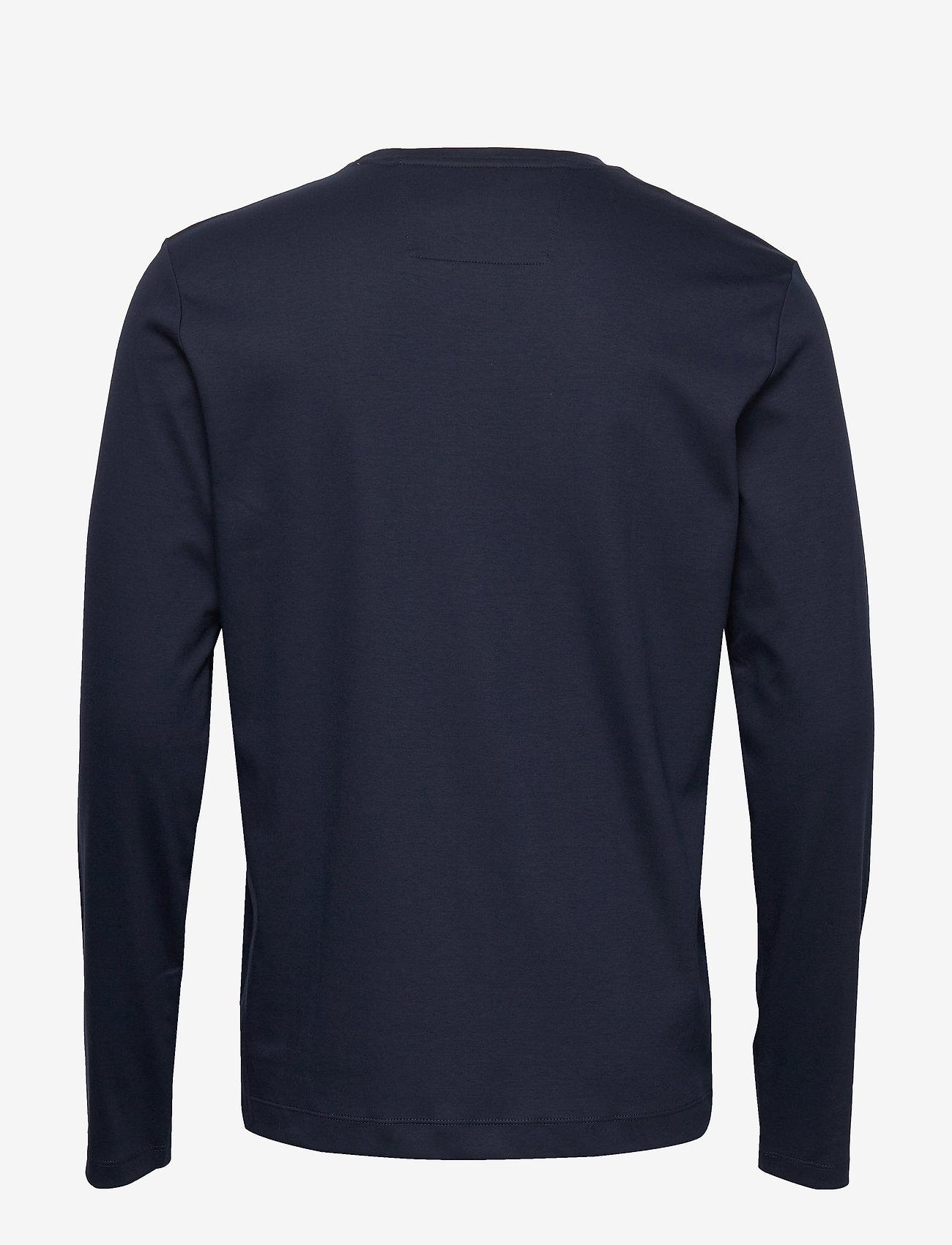 Banana Republic - Luxury-Touch Crew-Neck T-Shirt - basic t-shirts - preppy navy - 1