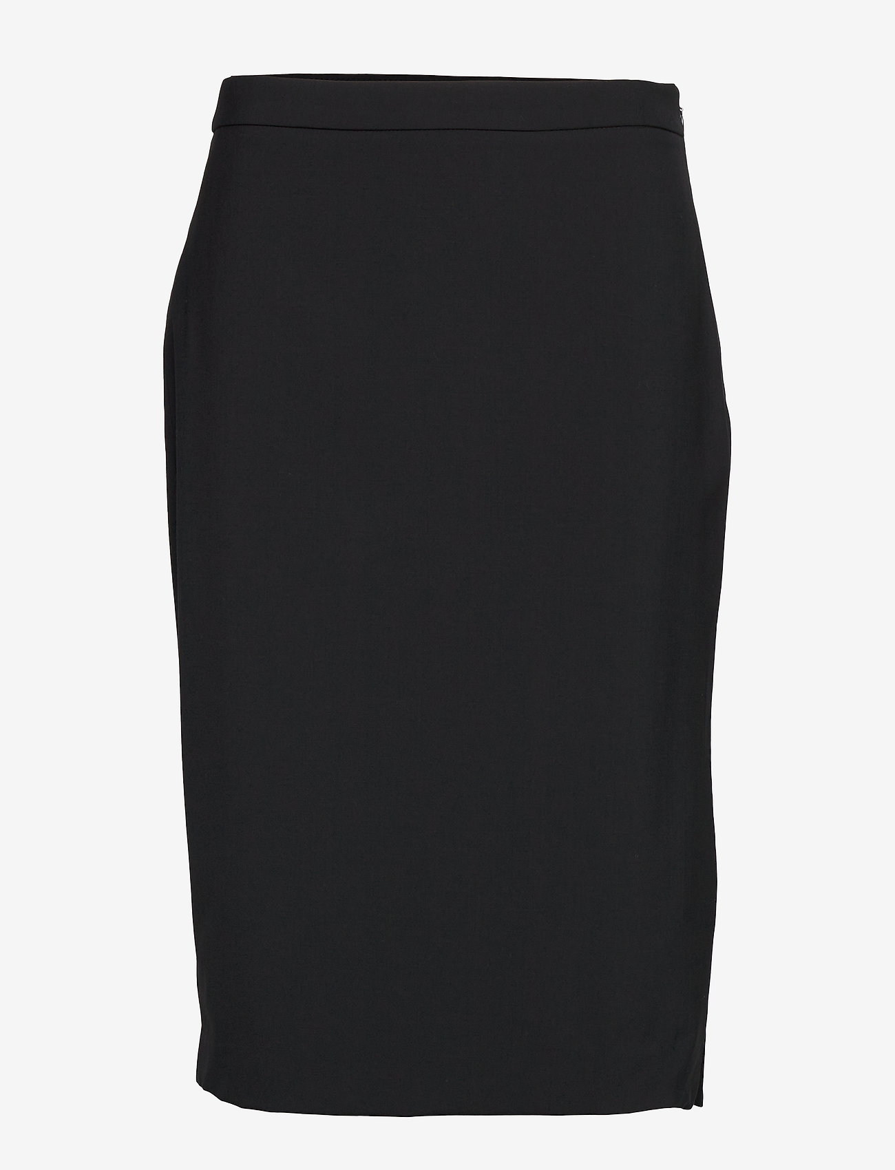 Banana Republic - Washable Italian Wool-Blend Pencil Skirt with Side Slit - midi skirts - black - 0