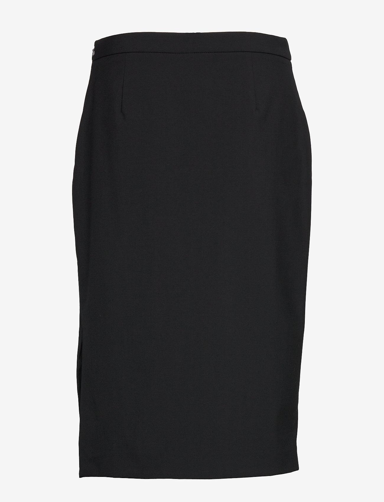 Banana Republic - Washable Italian Wool-Blend Pencil Skirt with Side Slit - midi skirts - black - 1