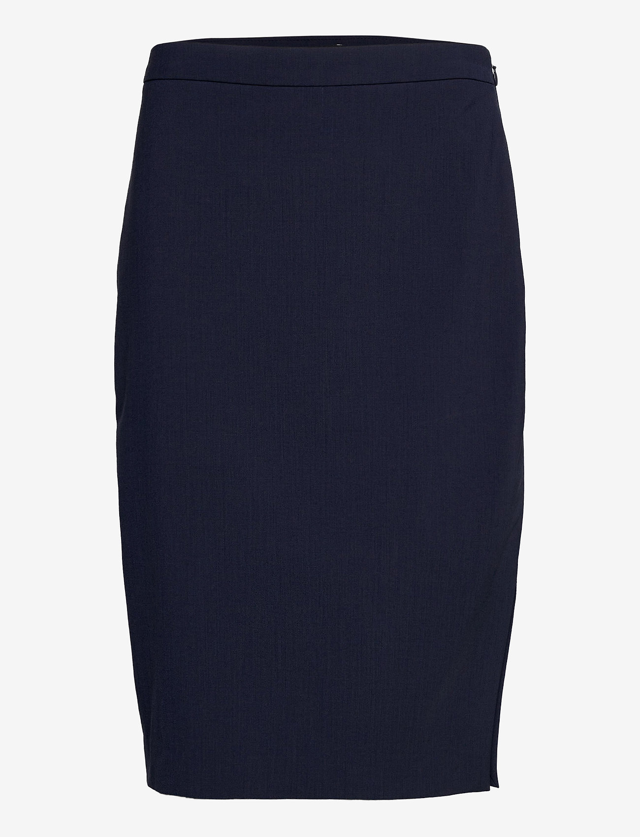 Banana Republic - Washable Italian Wool-Blend Pencil Skirt with Side Slit - midi skirts - navy - 0
