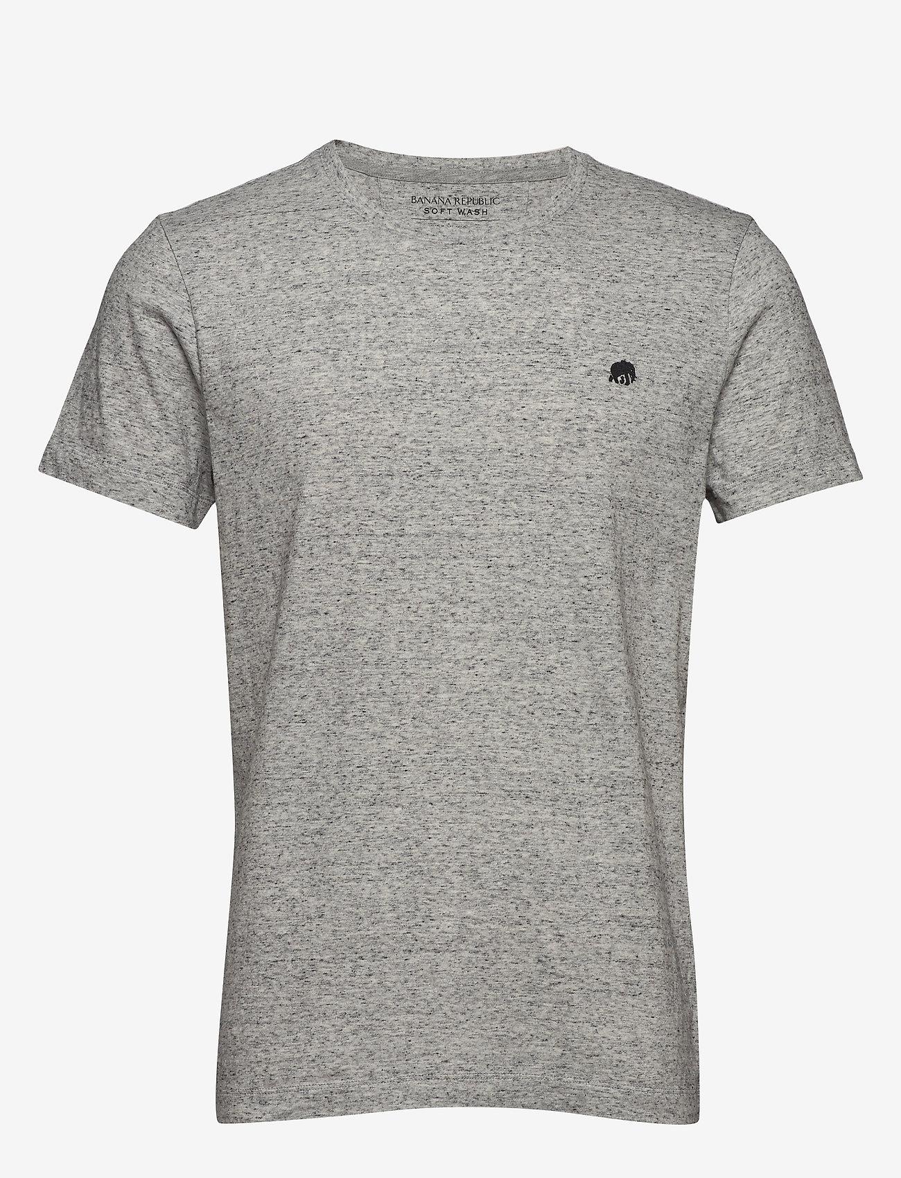 Banana Republic - I LOGO SOFTWASH TEE II - basic t-shirts - smoking grey global - 0