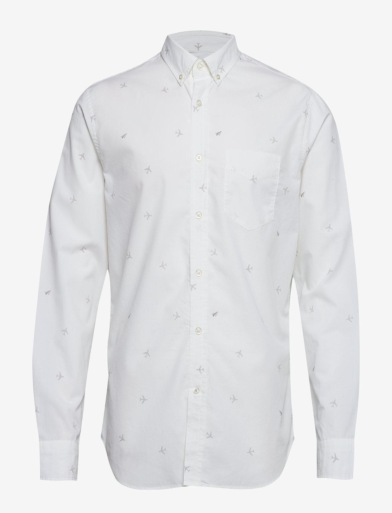 Banana Republic - Standard-Fit Luxe Poplin Shirt - oxford-paidat - plein air 13-4111 tcx