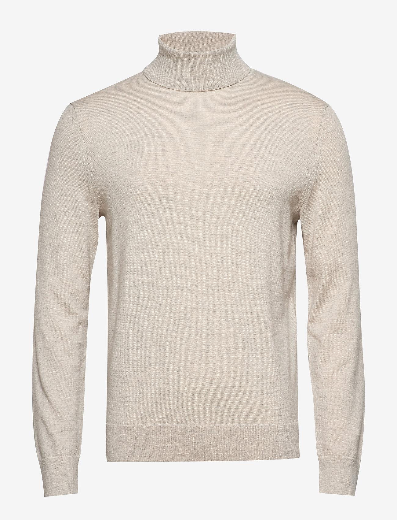 Banana Republic - Italian Merino Turtleneck Sweater - perusneuleet - light oatmeal heather
