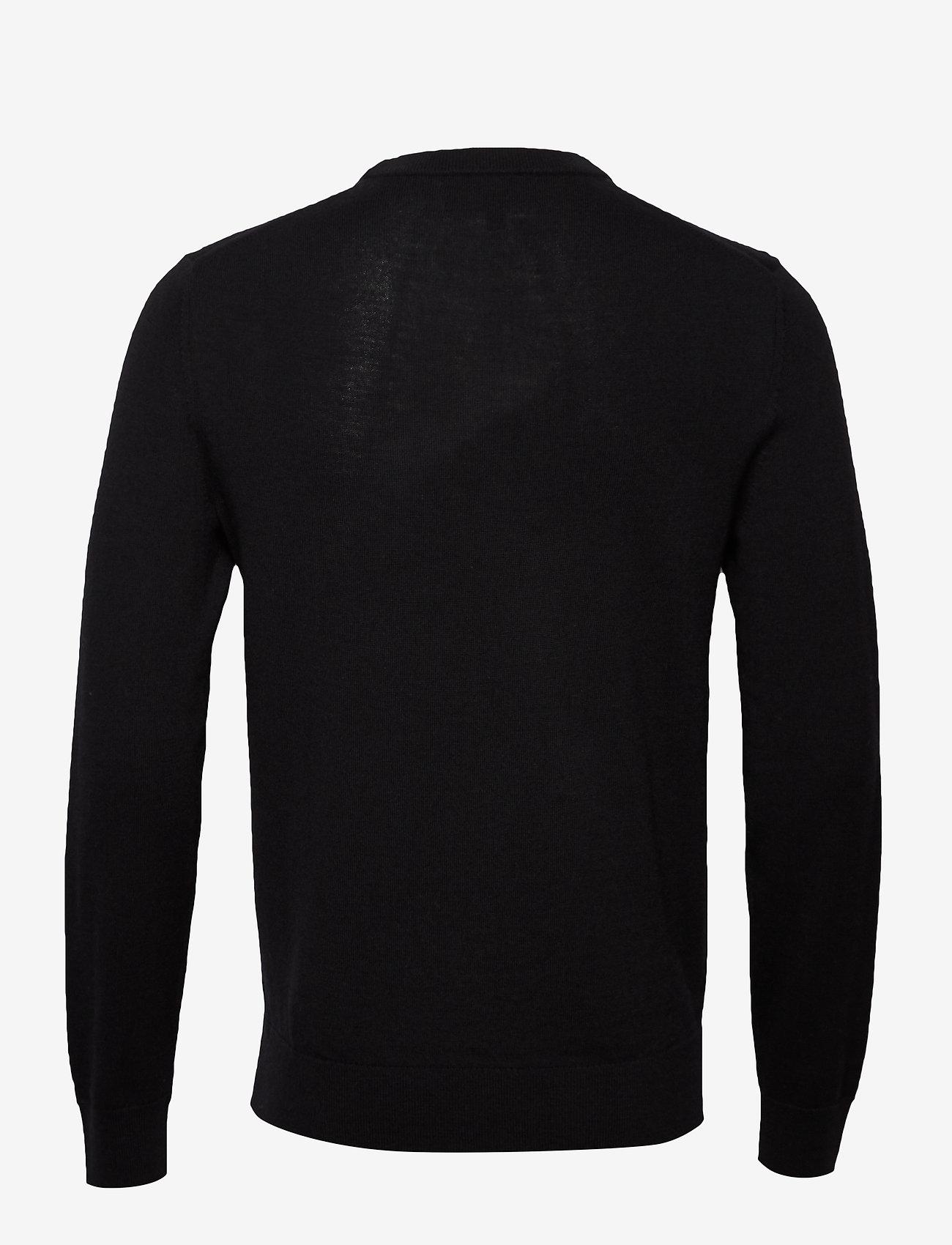 Banana Republic - Italian Merino Crew-Neck Sweater - basic knitwear - black - 1