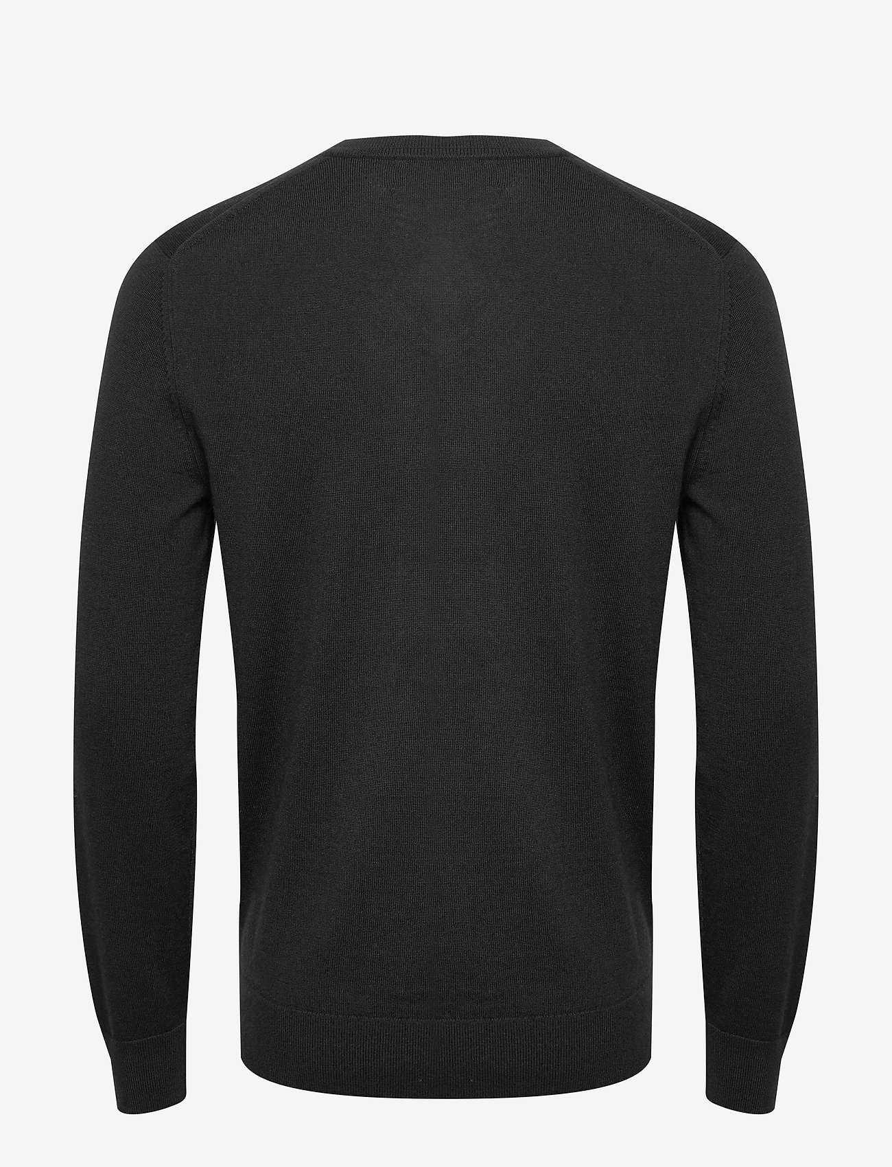 Banana Republic - Italian Merino V-Neck Sweater - perusneuleet - black