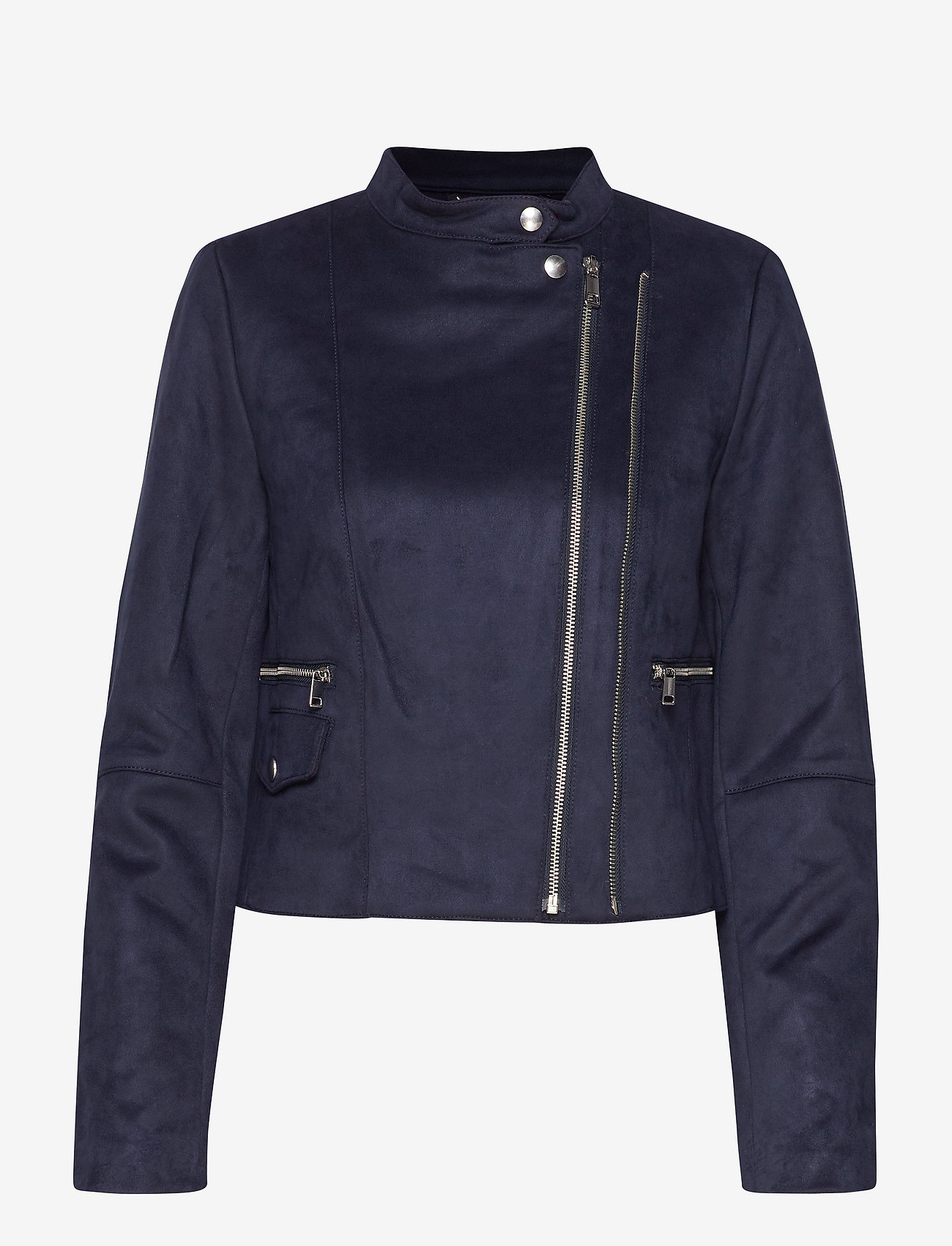 Banana Republic - Vegan Suede Biker Jacket - leather jackets - navy - 1