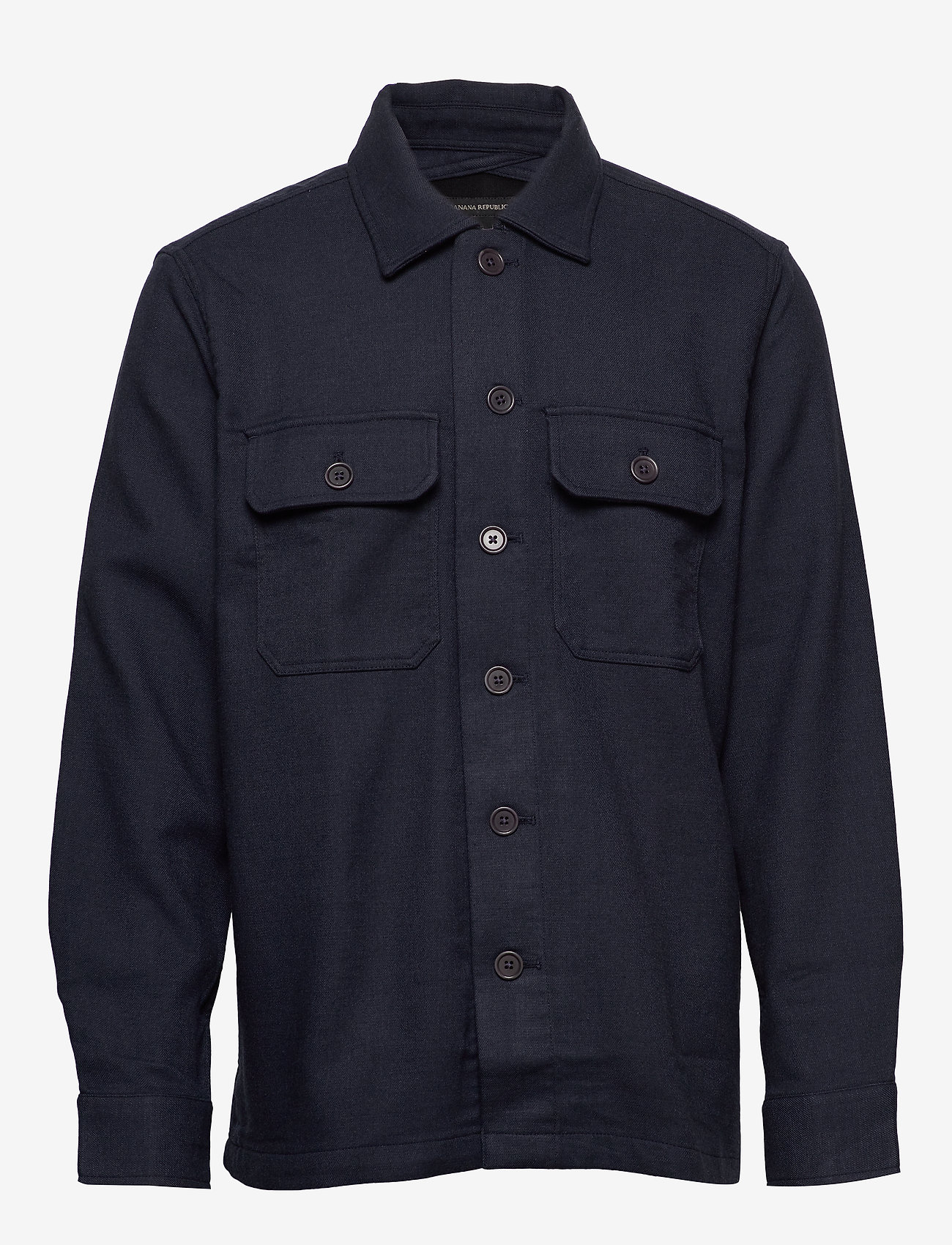 Banana Republic - Slim Double-Weave Shirt Jacket - tops - navy - 0