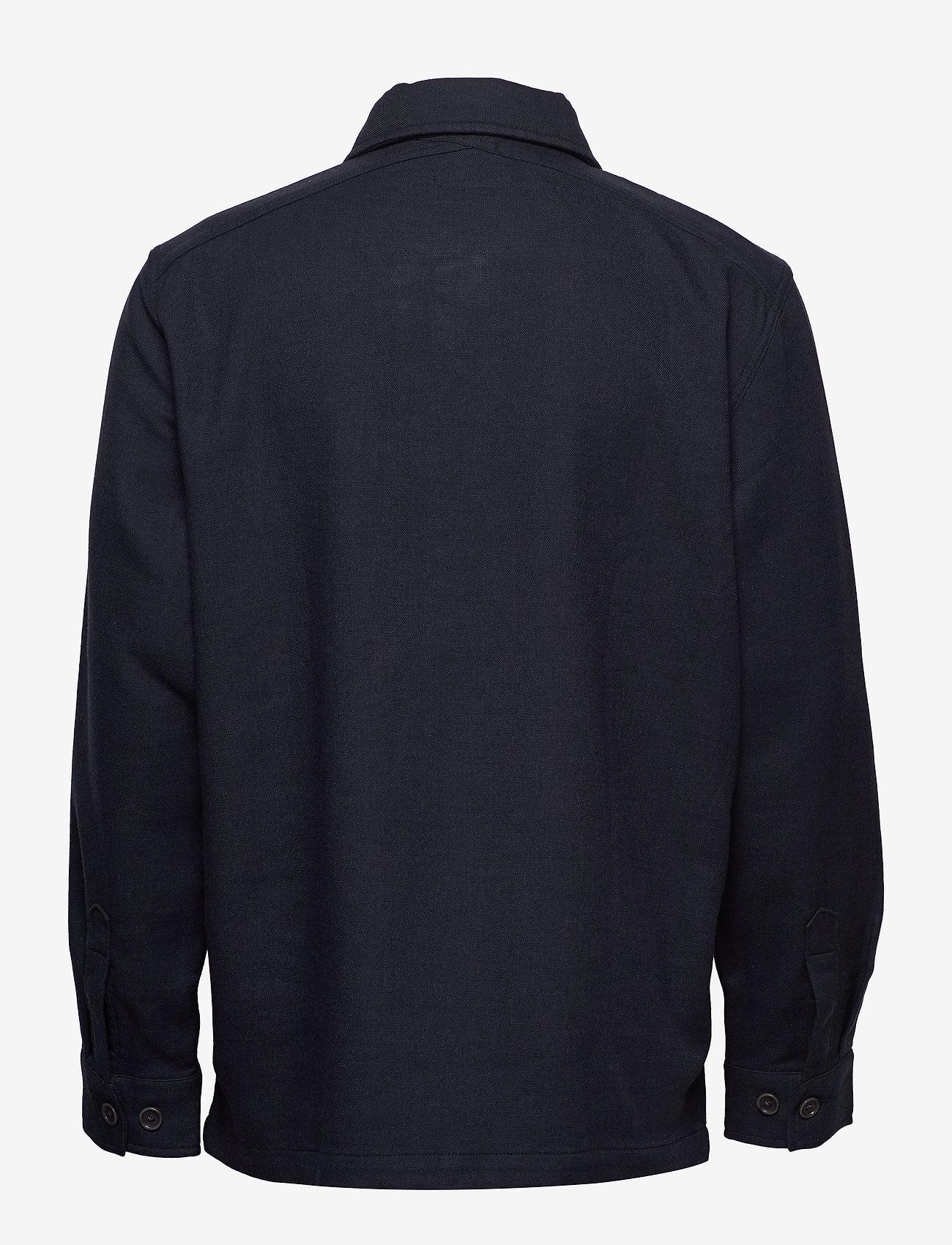 Banana Republic - Slim Double-Weave Shirt Jacket - tops - navy - 1