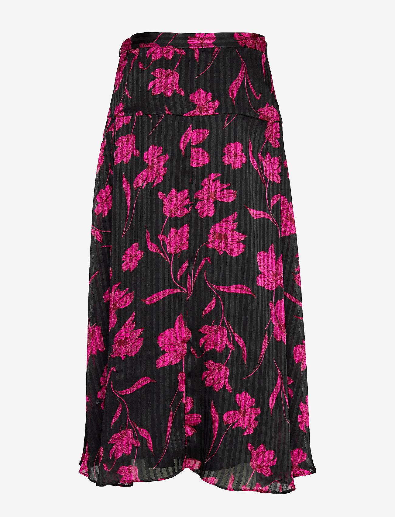 Banana Republic - Floral Asymmetrical Skirt - midi skirts - pink floral - 1