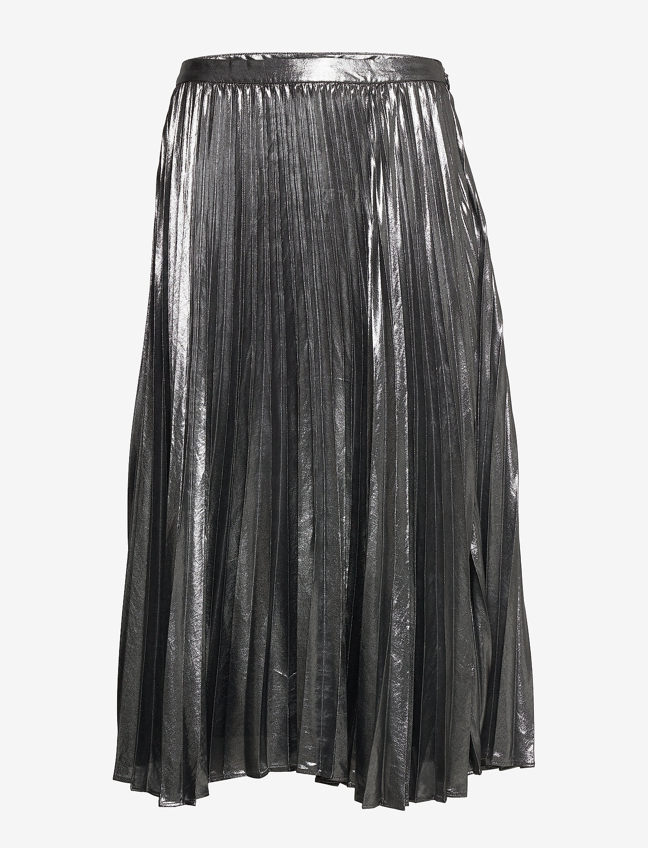 Banana Republic - Metallic Pleated Midi Skirt - midi skirts - dark charcoal - 0