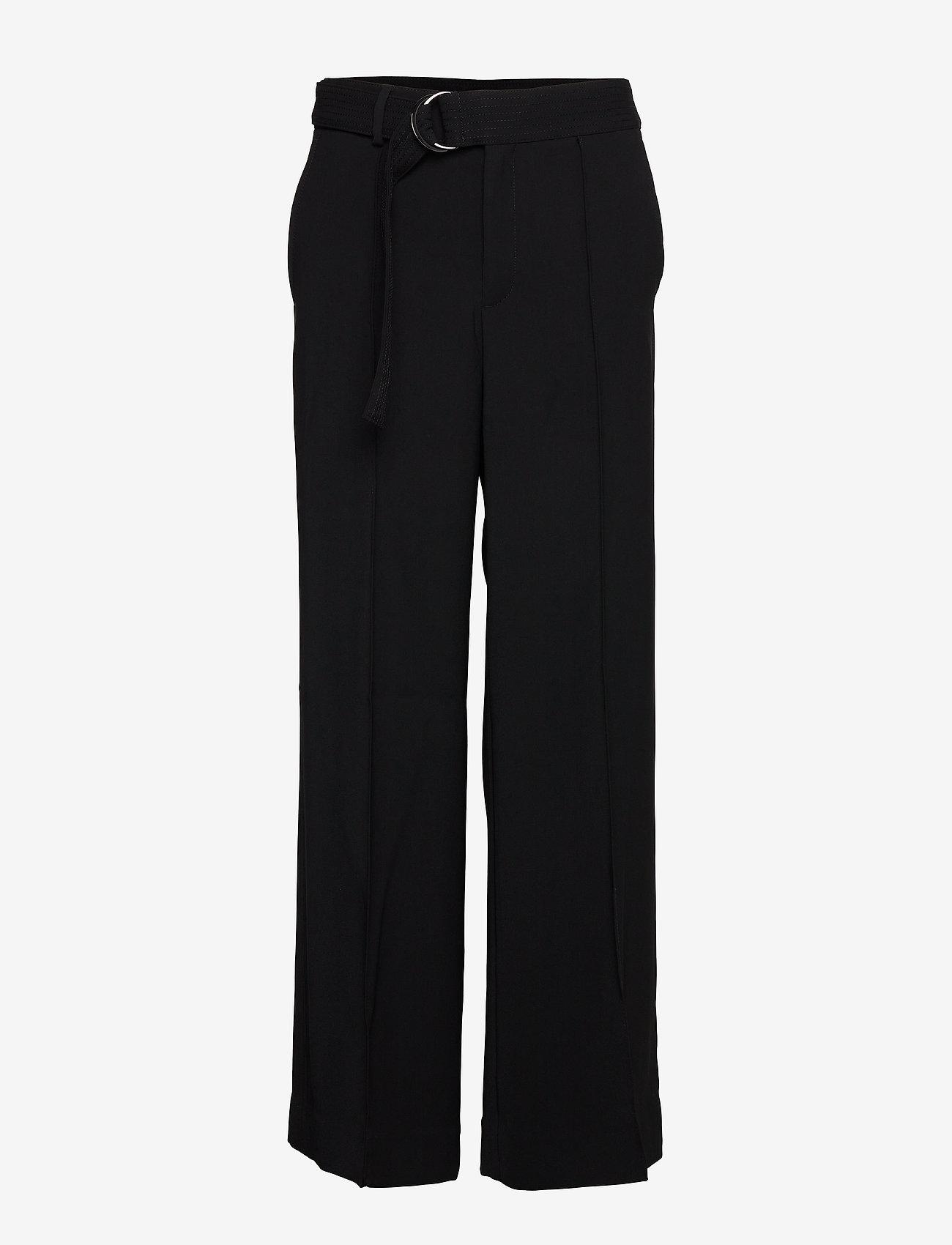 Banana Republic - High-Rise Wide-Leg Utility Pant - bukser med brede ben - black k-100 - 0