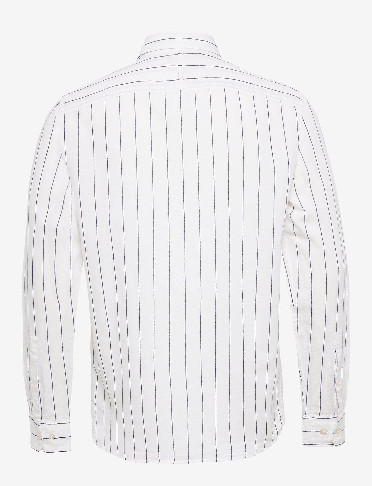 Banana Republic - Untucked Slim-Fit Linen-Cotton Shirt - casual shirts - wide stripe - 1