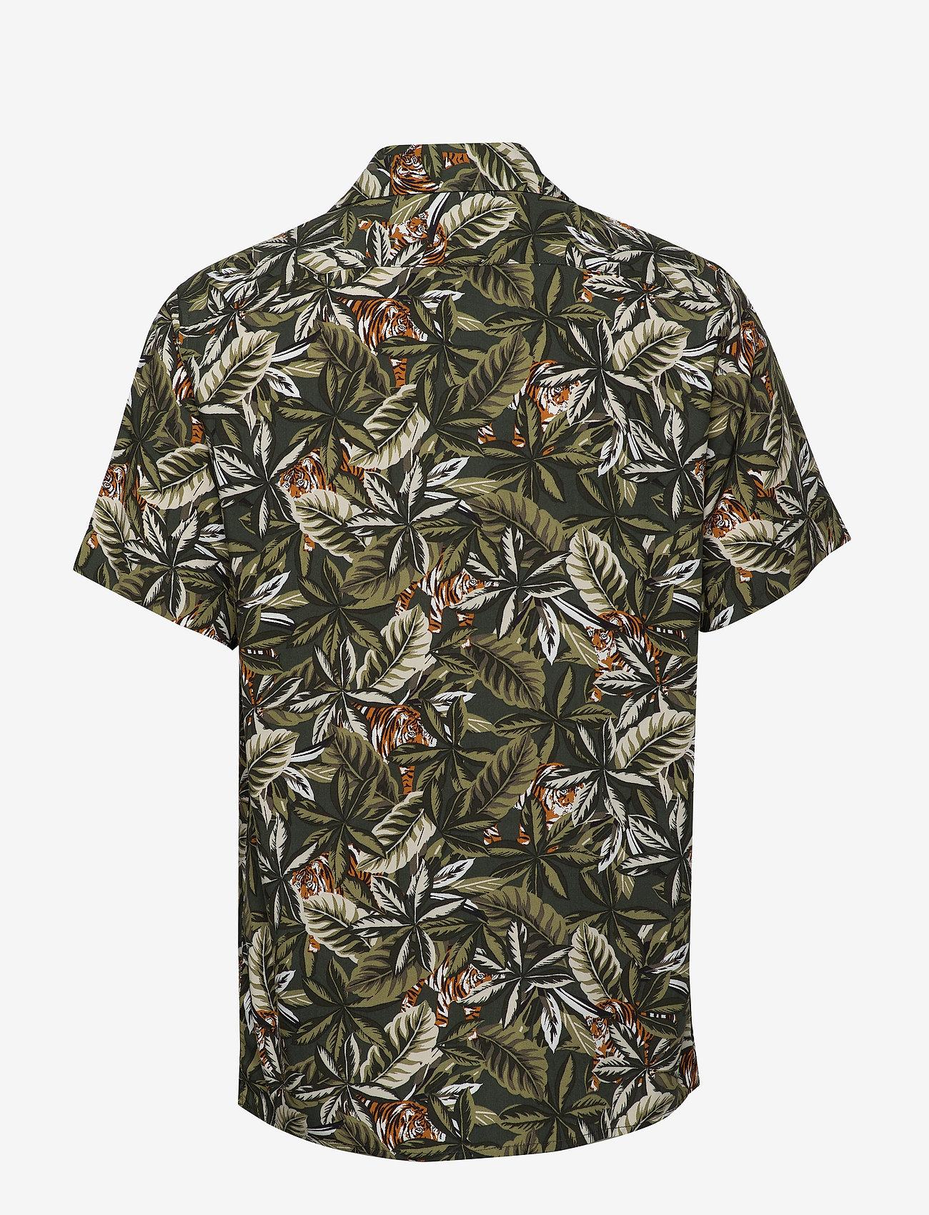 Banana Republic - Slim Soft Resort Shirt - short-sleeved shirts - olive - 1
