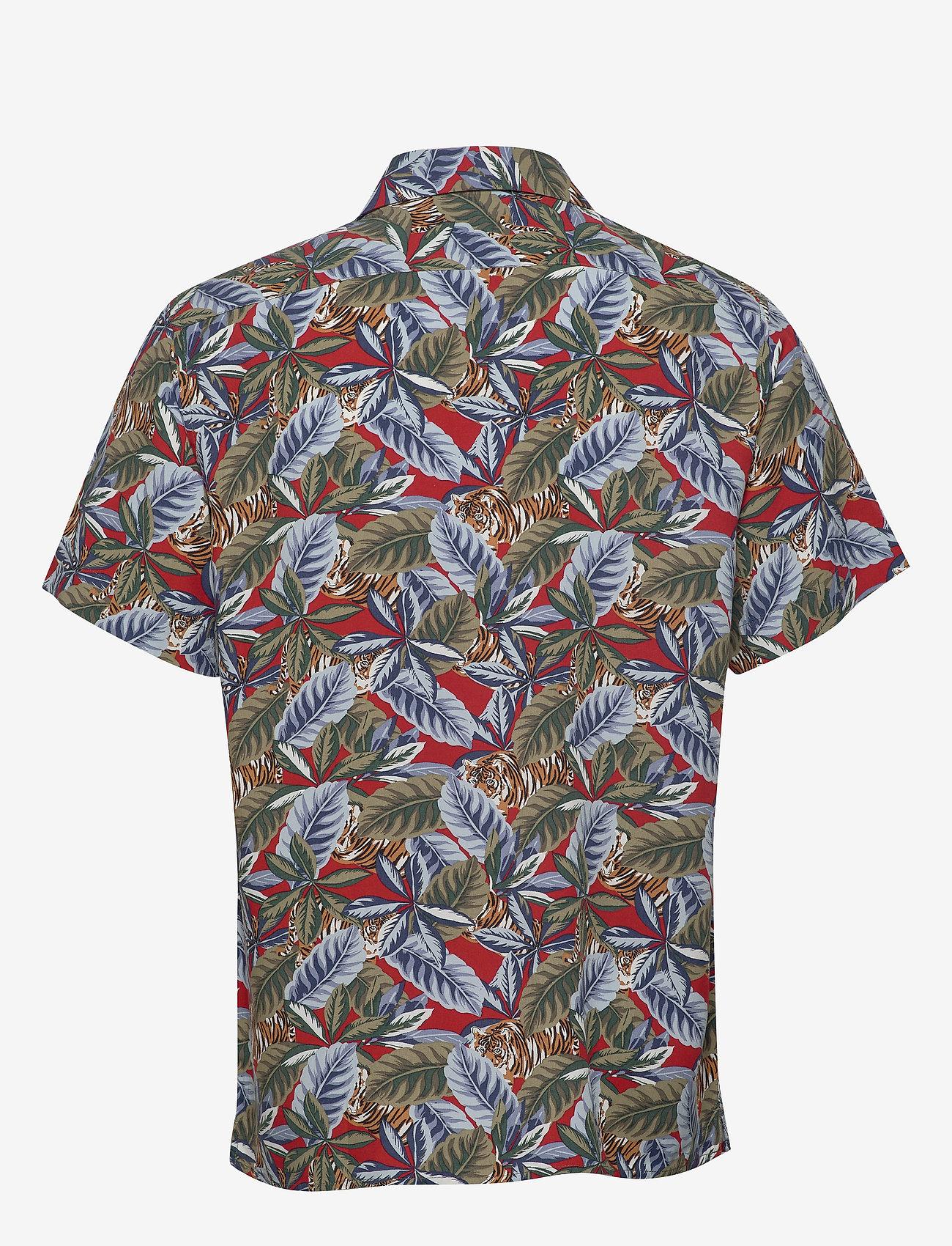 Banana Republic - Slim Soft Resort Shirt - short-sleeved shirts - saucy red - 1
