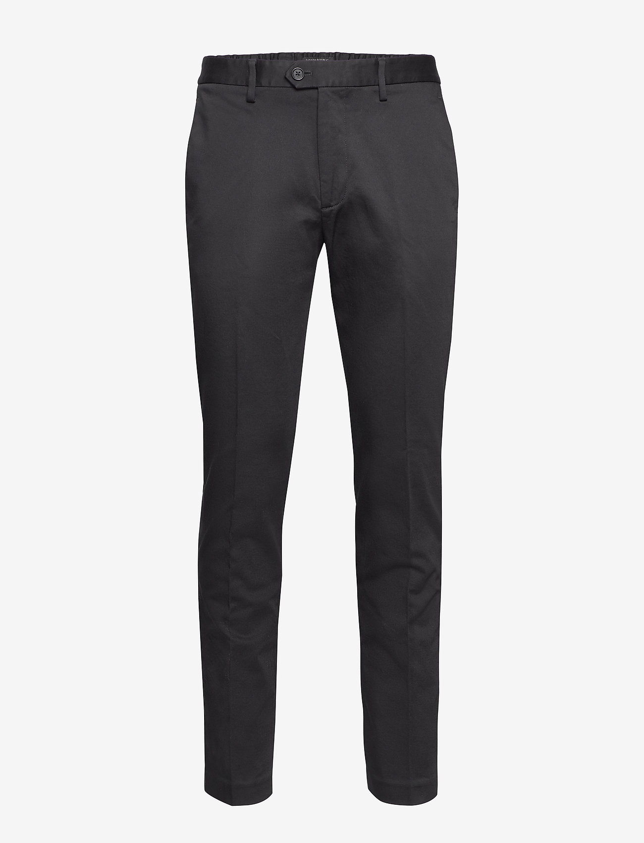 Banana Republic - Slim Elastic-Waist Traveler Chino - chinos - black k-100 - 0