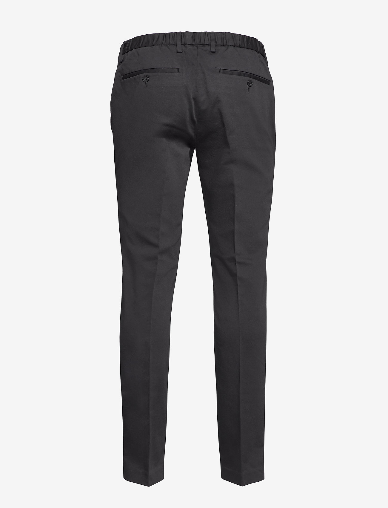 Banana Republic - Slim Elastic-Waist Traveler Chino - chinos - black k-100 - 1