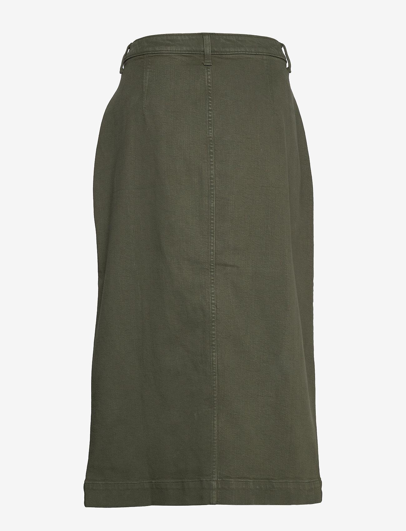 Banana Republic - Denim Utility Midi Skirt - maxi skirts - dark olive 629 - 1