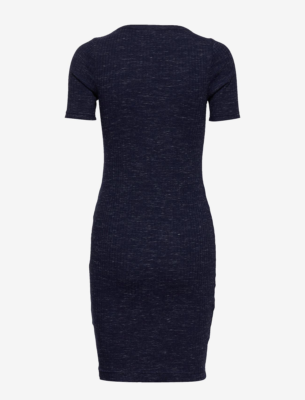 Banana Republic Spacedye Ribbed V-Neck T-Shirt Dress - Sukienki INDIGO - Kobiety Odzież.