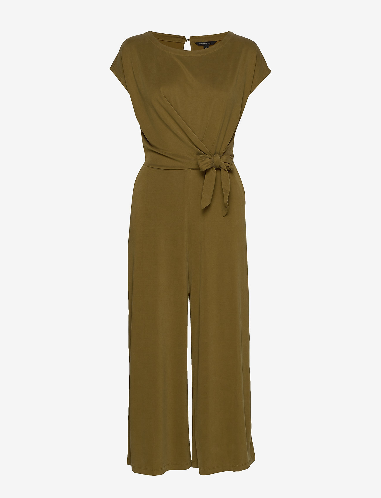Banana Republic - Sandwash Tie-Front Cropped Jumpsuit - combinaisons - cindered olive - 0